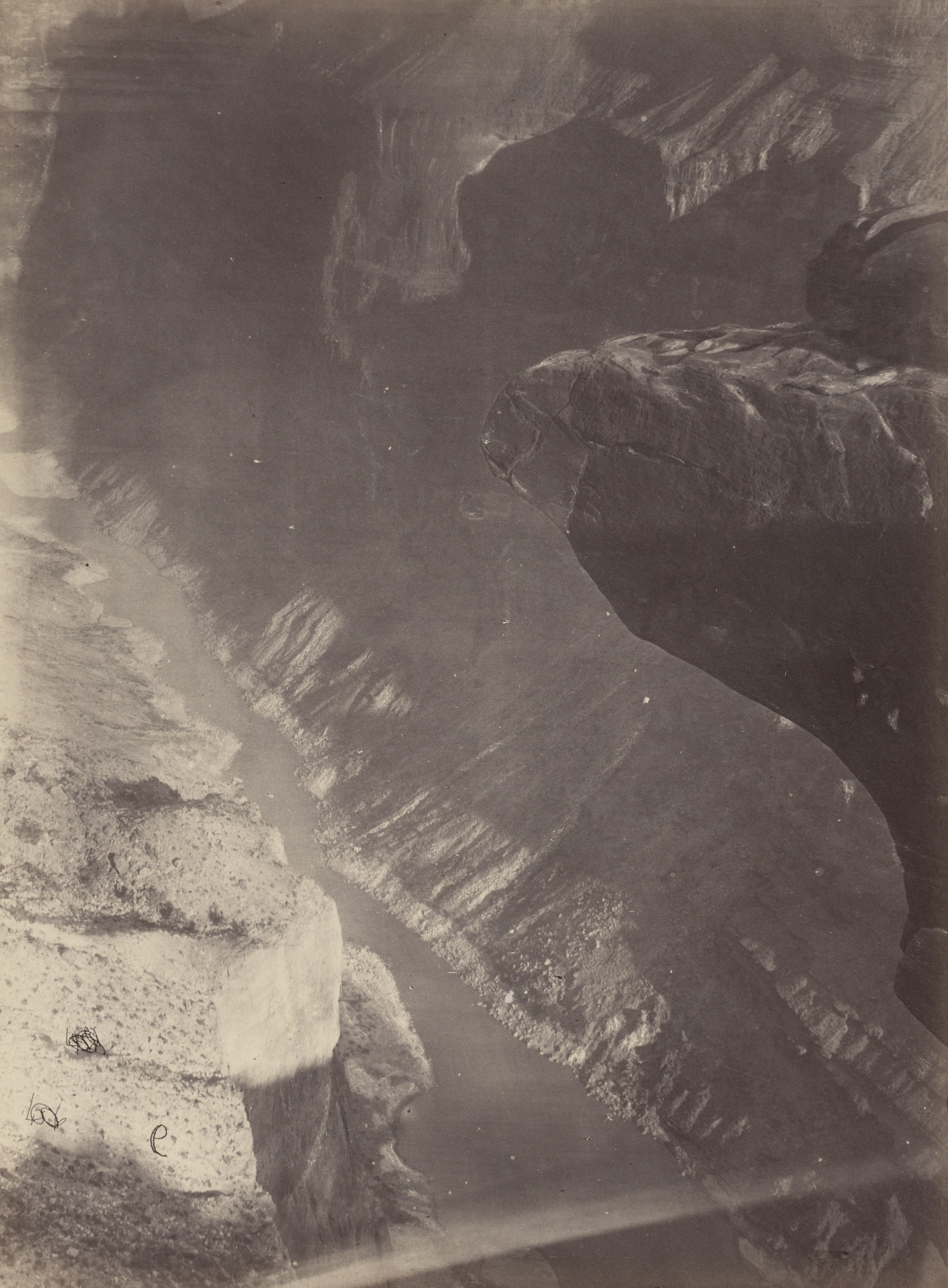 Timothy O'Sullivan, William H. Bell. Looking South into the Grand Canyon, Colorado River. Seasons of 1871, 1872 and 1873
