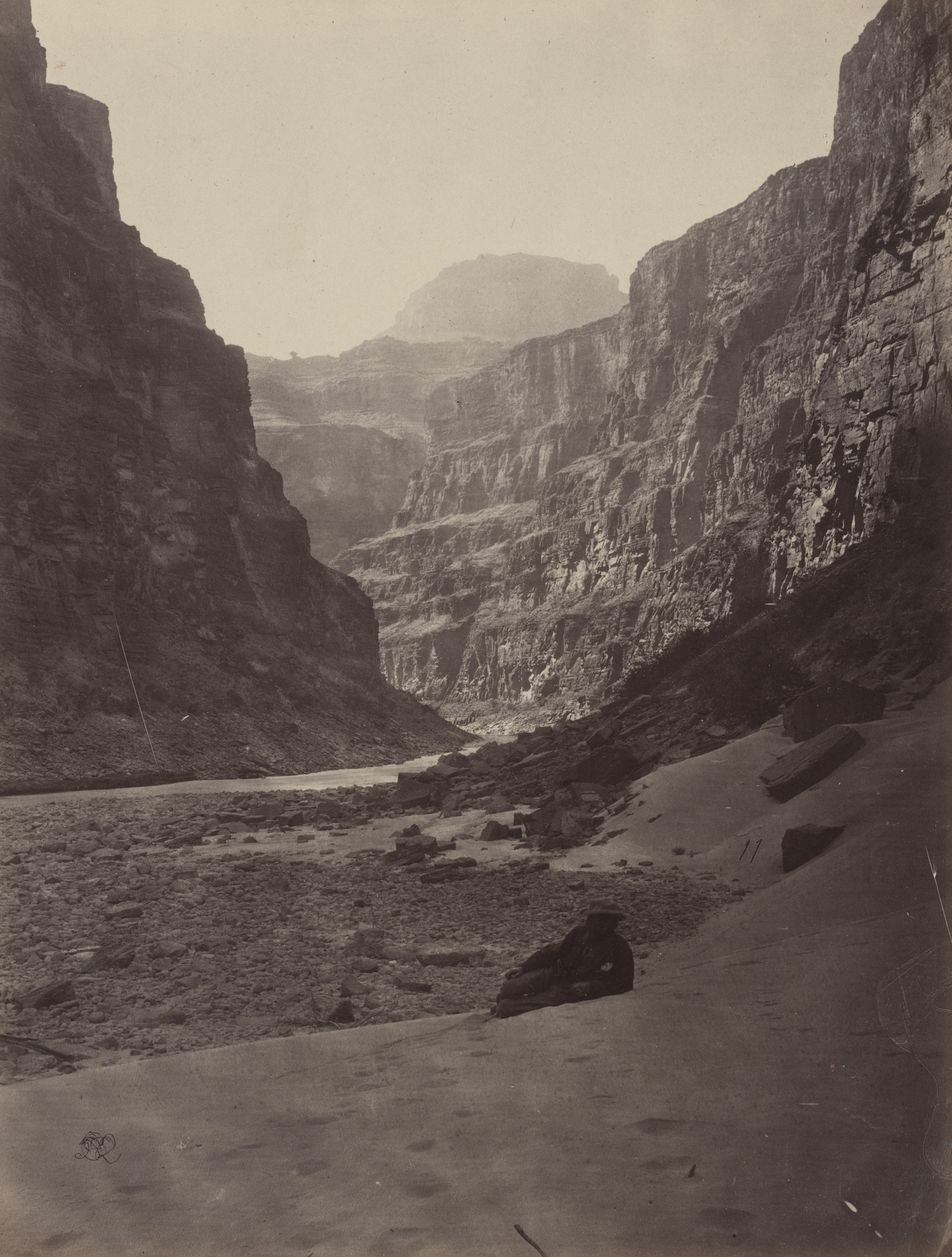 Timothy O'Sullivan, William H. Bell. Grand Canyon of the Colorado River, Mouth of Kanab Wash, Looking West. Seasons of 1871, 1872 and 1873