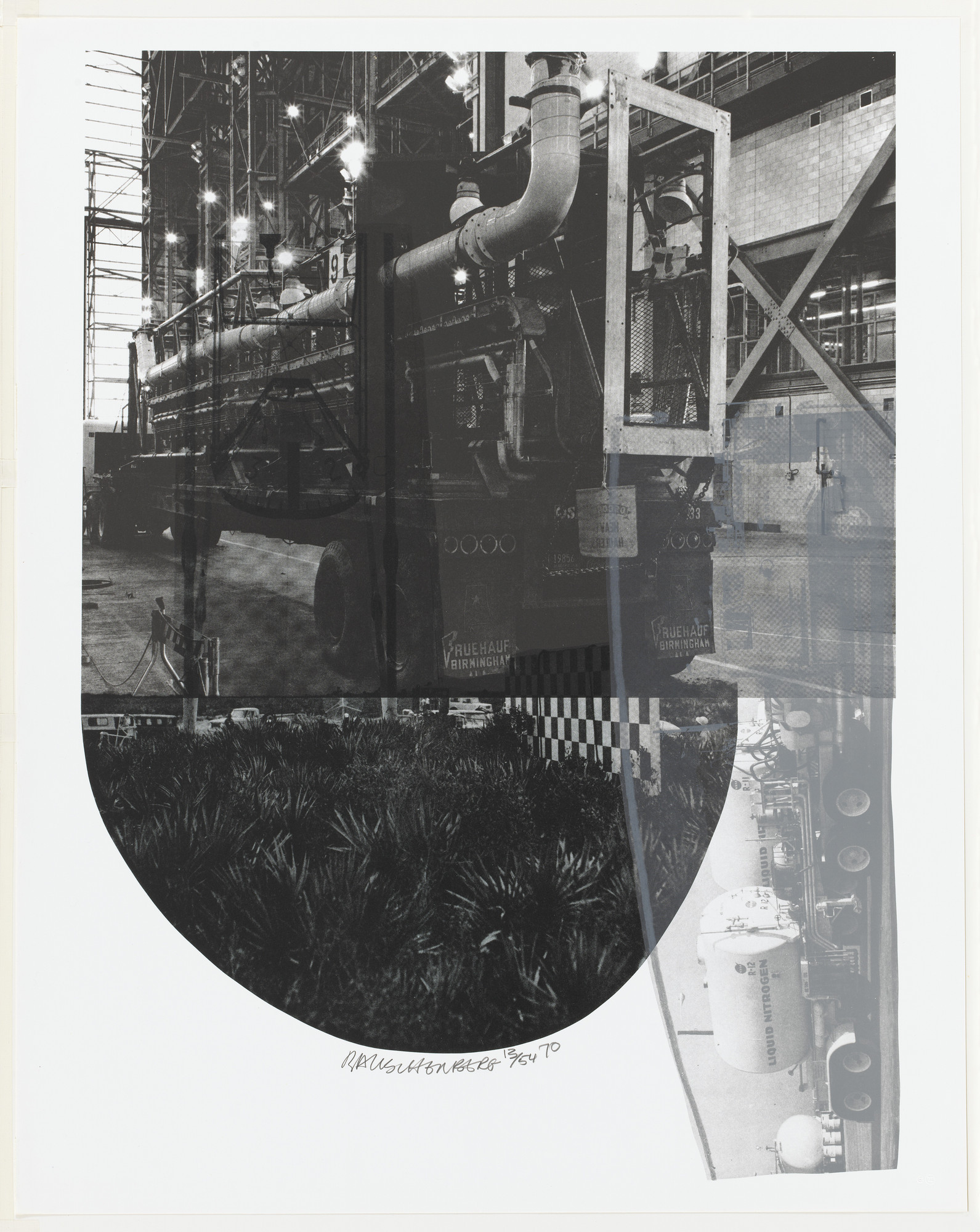 Robert Rauschenberg. Tracks from Stoned Moon Series. 1970