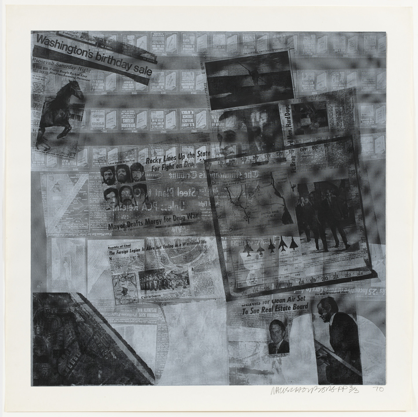 Robert Rauschenberg. Surface Series 47 from the portfolio Currents. 1970