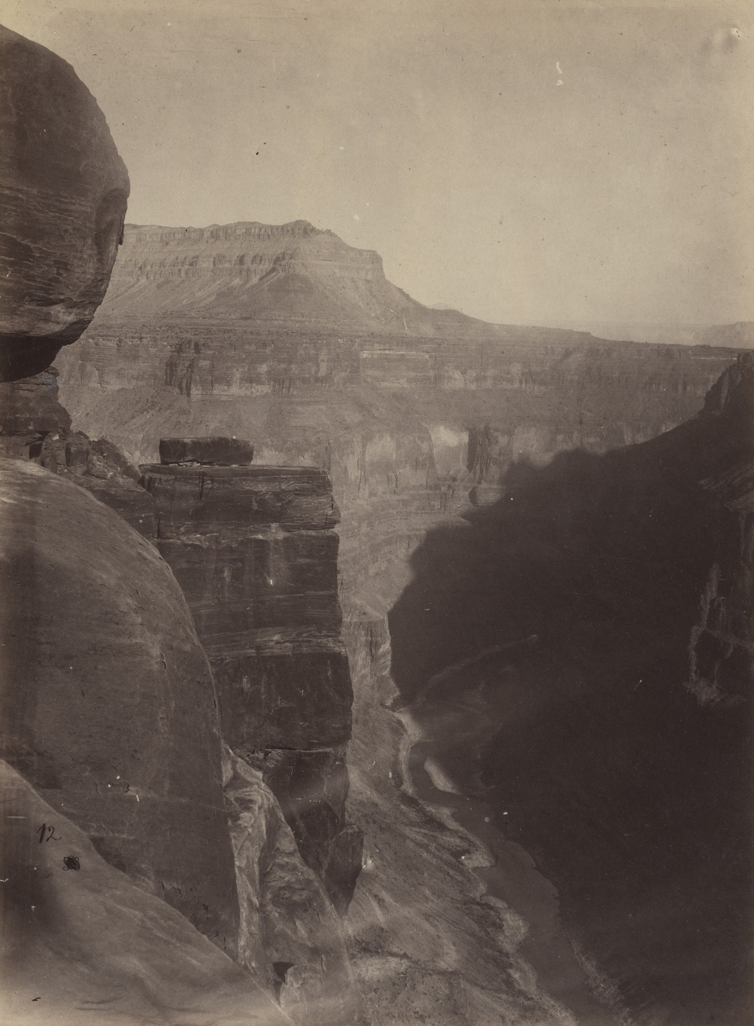 William H. Bell, Timothy O'Sullivan. Grand Canyon of the Colorado River, Mouth of Kanab Wash, Looking East. Seasons of 1871, 1872 and 1873