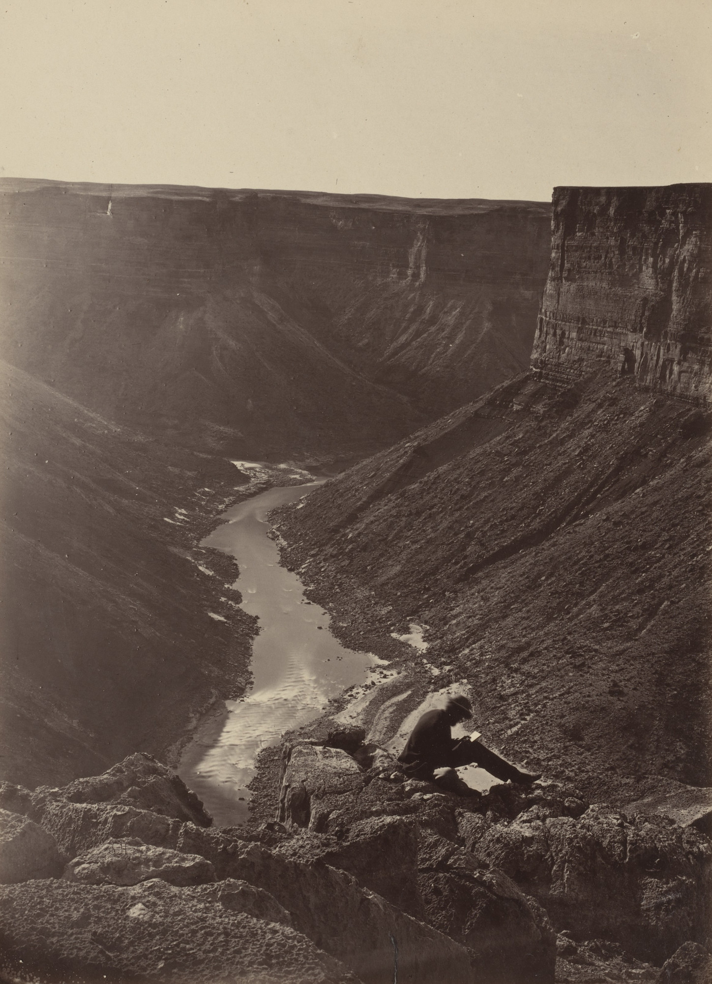 William H. Bell, Timothy O'Sullivan. Grand Canyon of the Colorado River, Mouth of Kanab Wash, Looking West. Seasons of 1871, 1872 and 1873