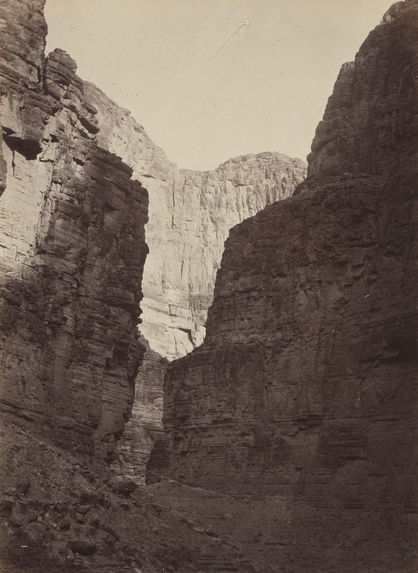 Timothy O'Sullivan, William H. Bell. Limestone Walls, Kanab Wash, Colorado River. 1872