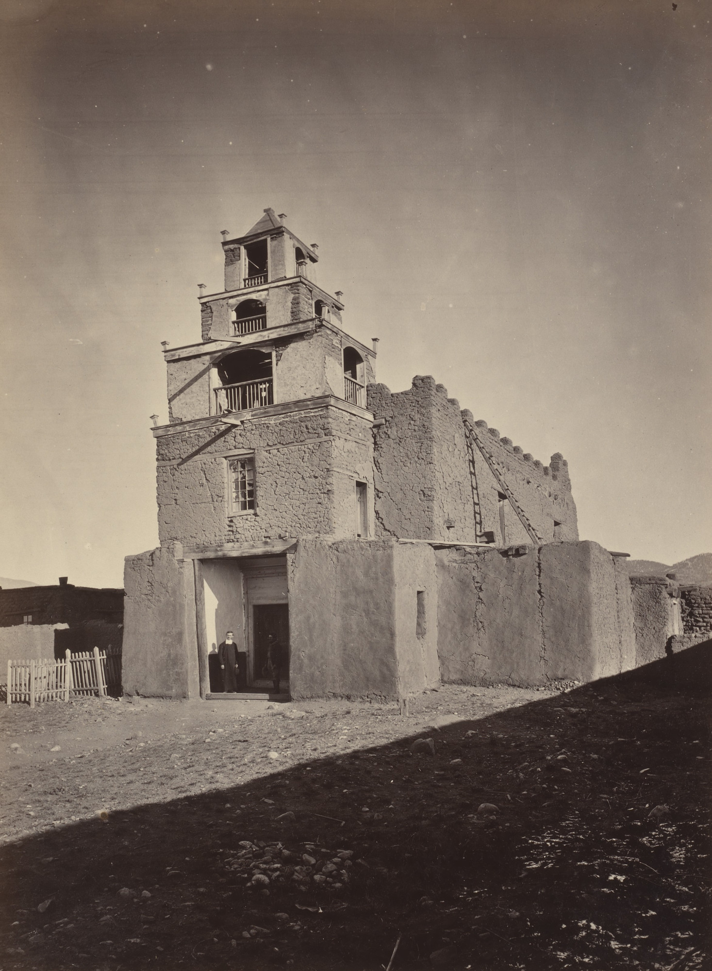 Timothy O'Sullivan. The Church of San Miguel. Seasons of 1871, 1872 and 1873