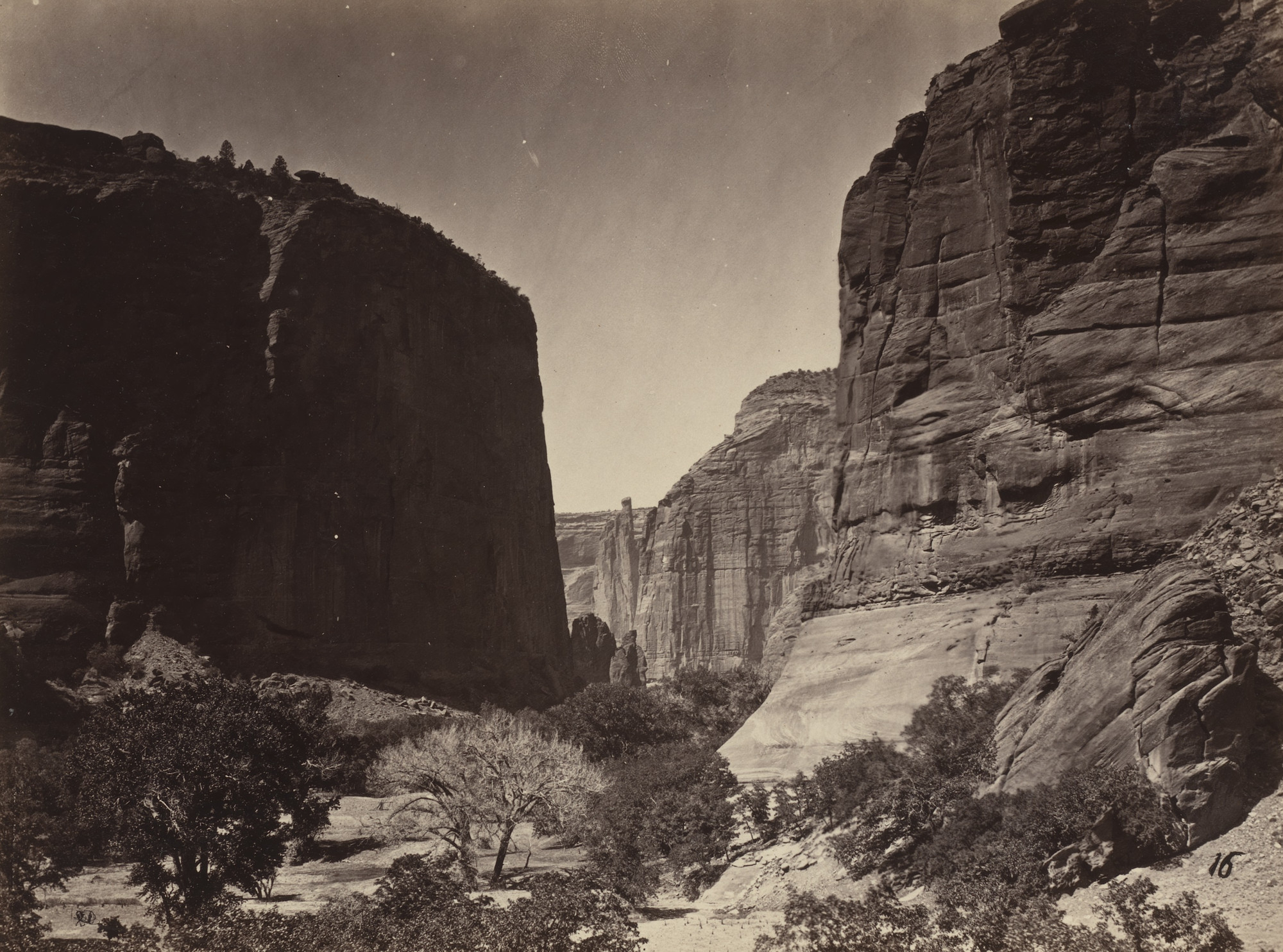 Timothy O'Sullivan. Head of Canyon de Chelle, Looking Down. Seasons of 1871, 1872 and 1873