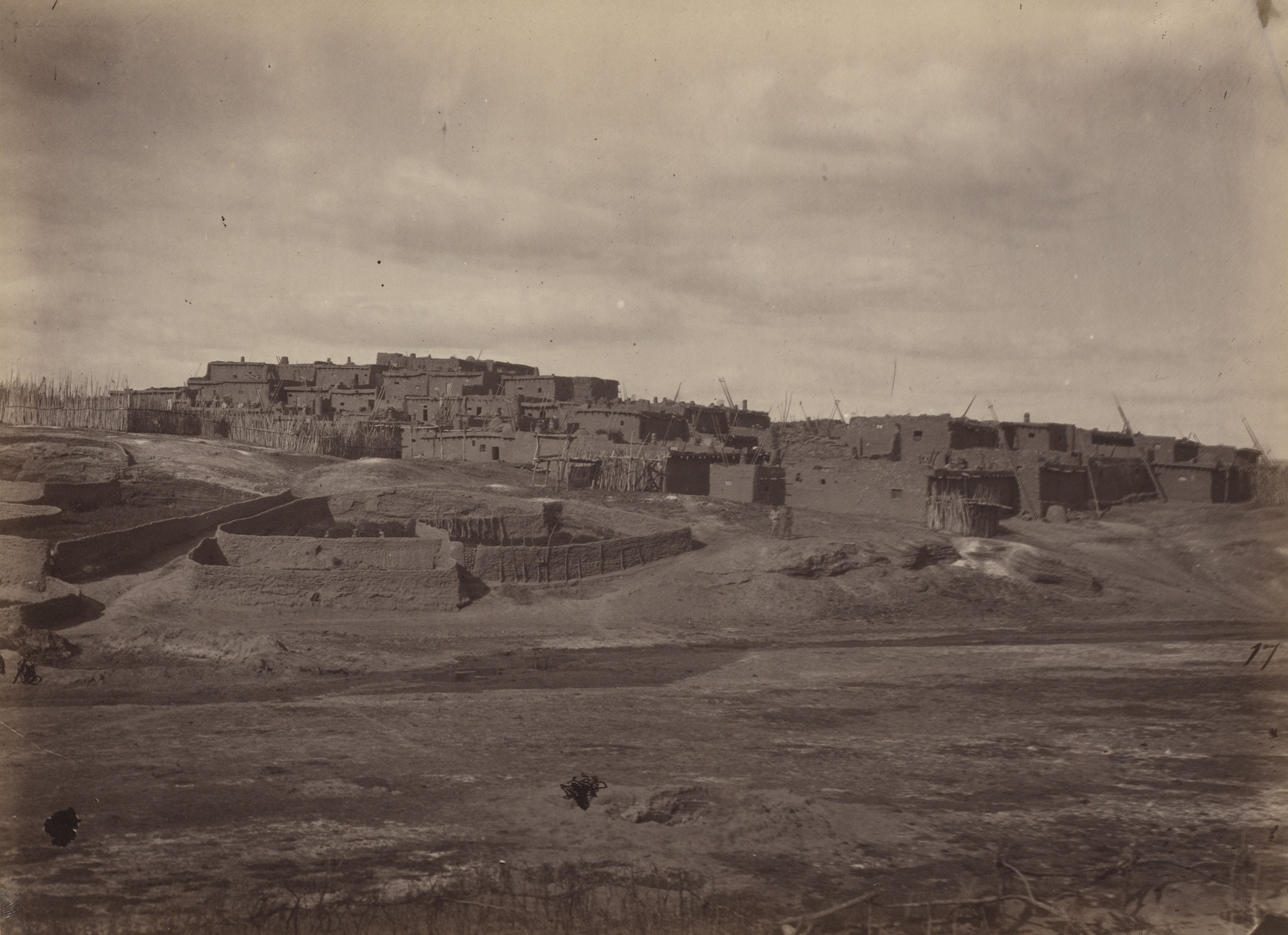 Timothy O'Sullivan. Indian Pueblo, Zuni, N.M.. Seasons of 1871, 1872 and 1873
