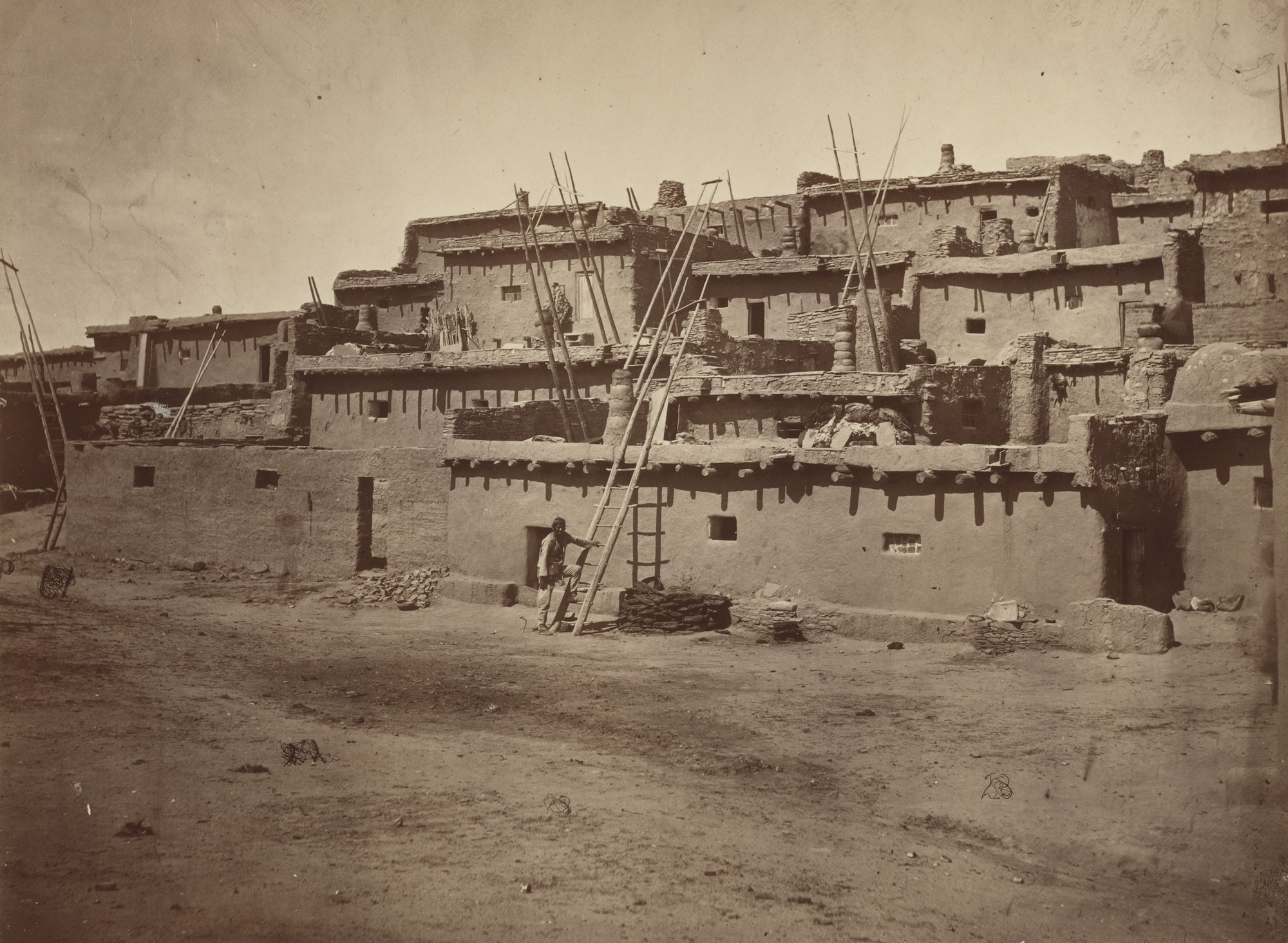 Timothy O'Sullivan. Section of South Side of Zuni Pueblo, N.M.. Seasons of 1871, 1872 and 1873