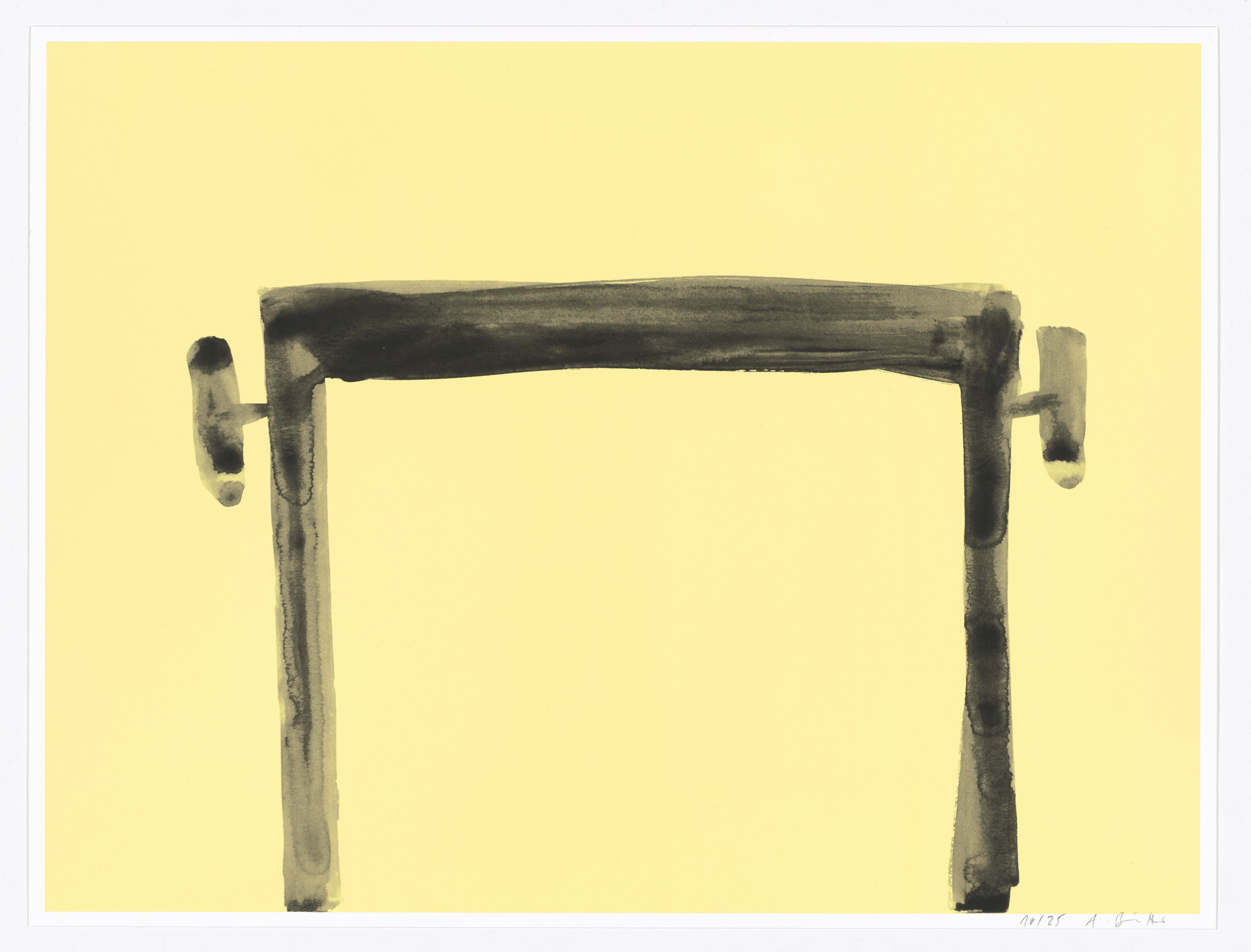 Andrea Büttner. Piano Stool (Silkscreen) (for Parkett no. 97). 2015
