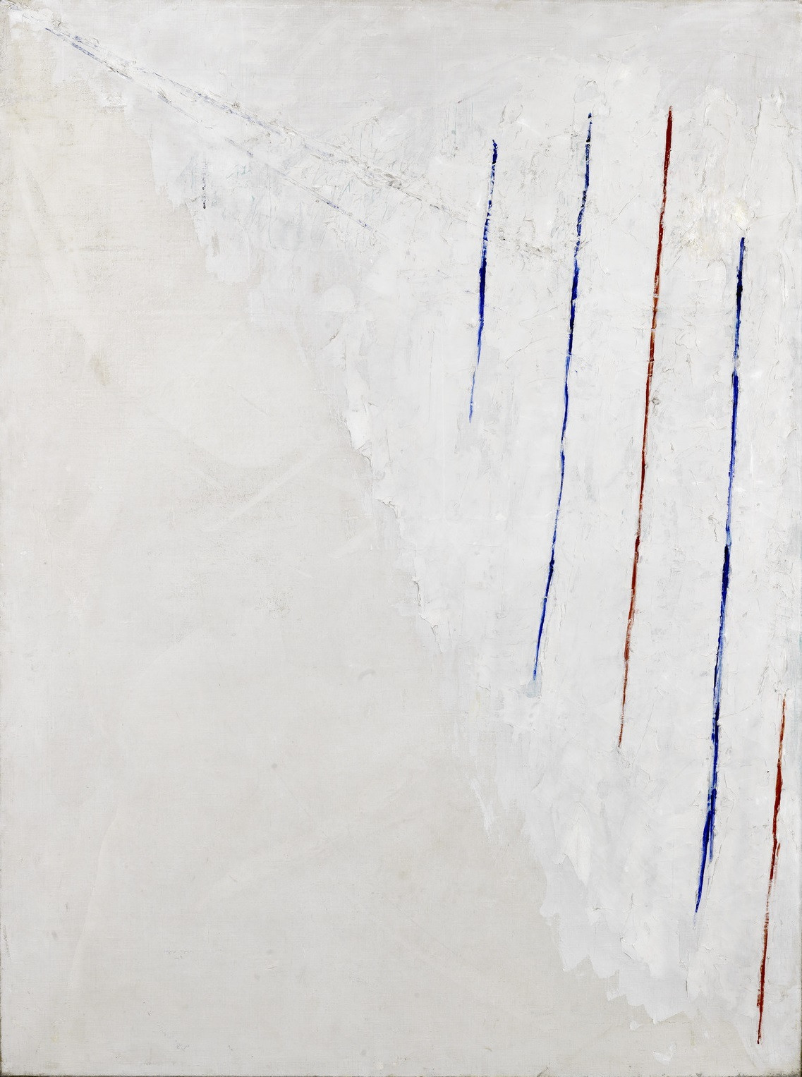 Alejandro Otero. Colored Lines on White Background. 1950