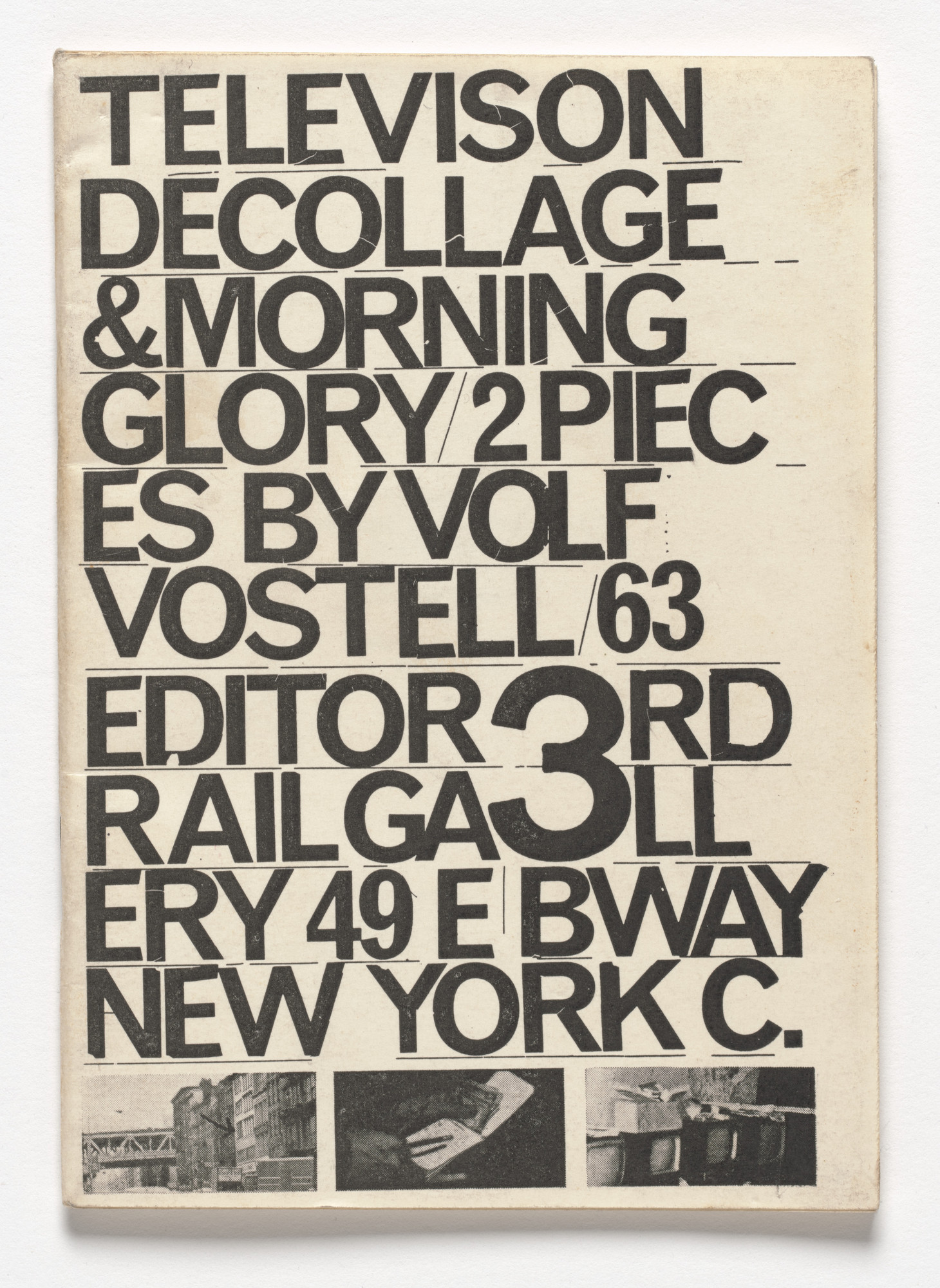 Wolf Vostell Television Decollage Morning Glory 1963 Moma