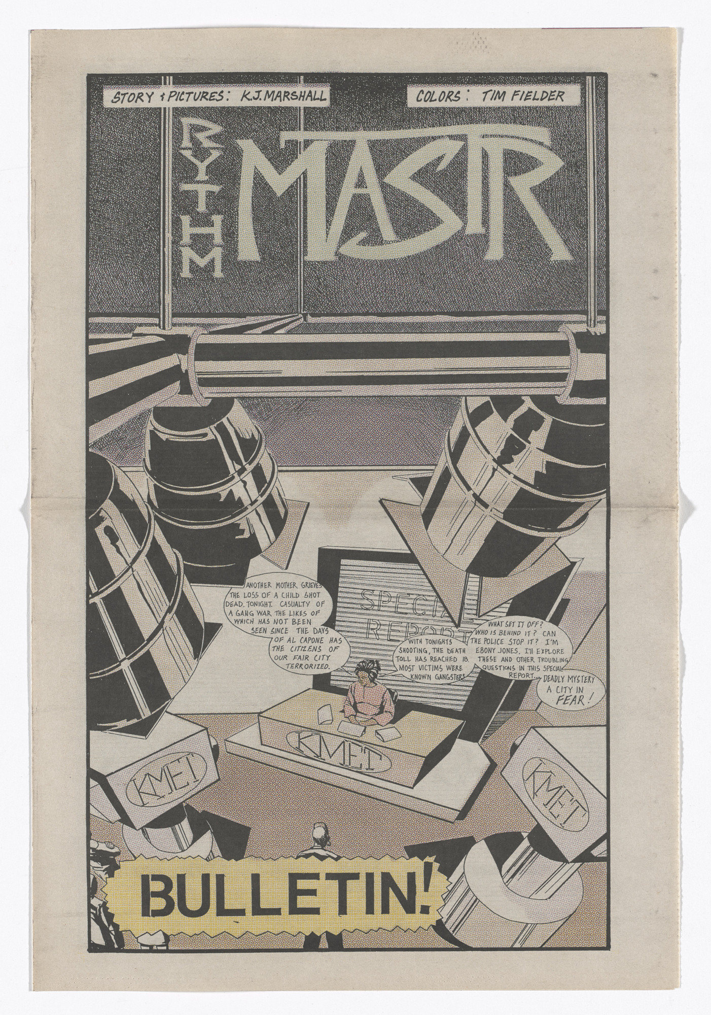 Kerry James Marshall. Rythm Mastr: Bulletin!. 1999–2000