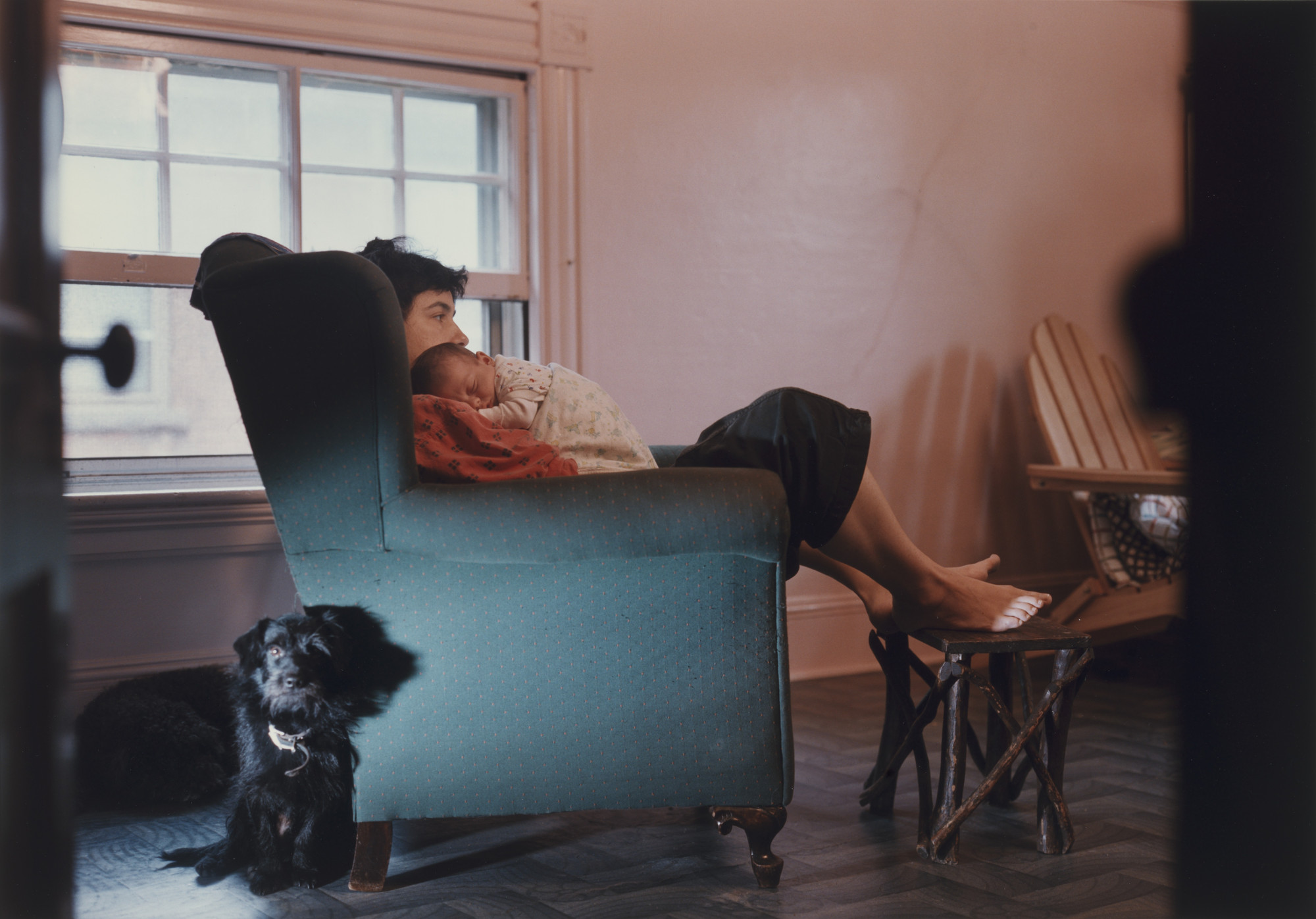 Philip-Lorca diCorcia. Auden, Emma and Dogs. 1989