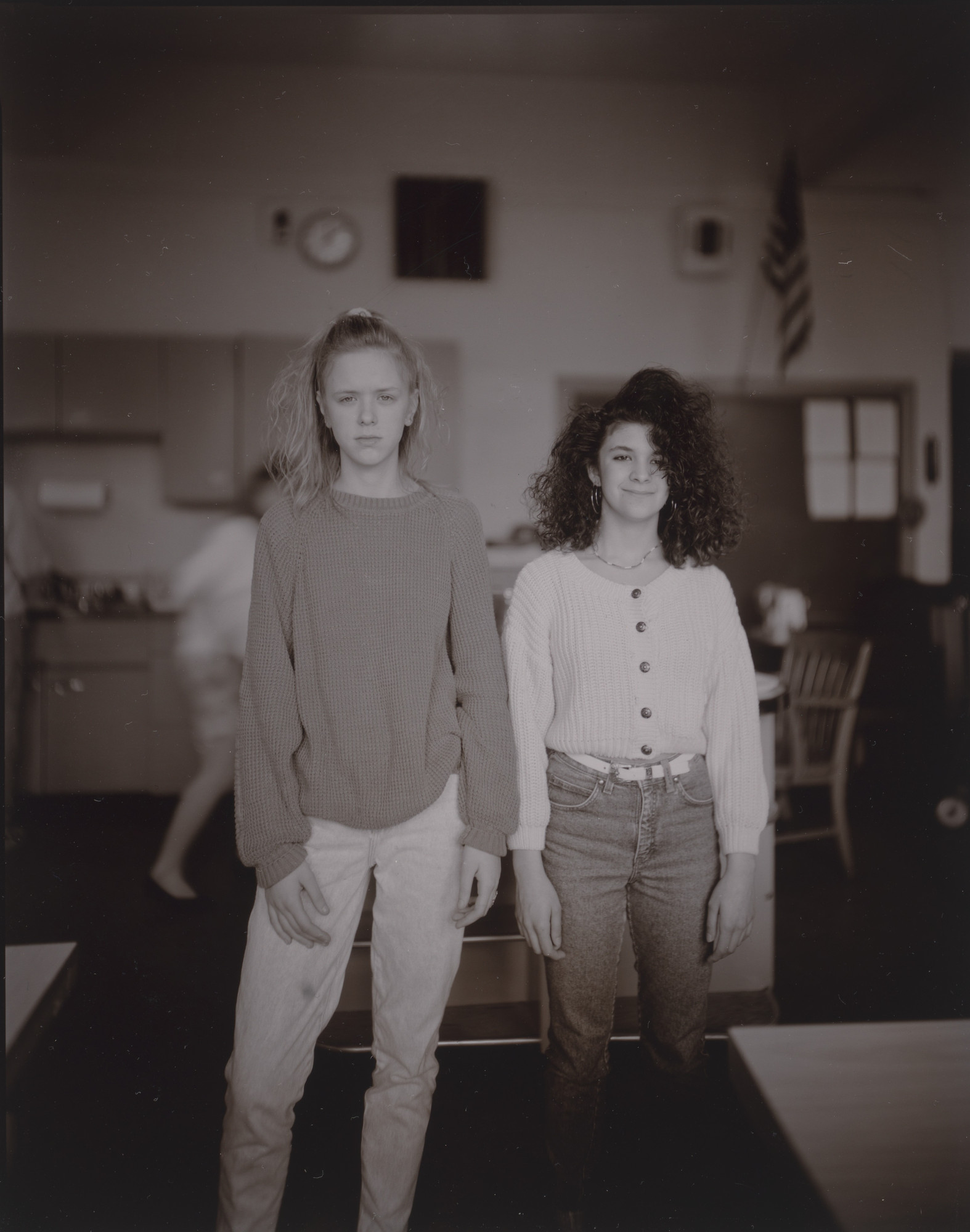 Judith Joy Ross. Danielle Miller and Maria Koslop in Home Economics, H.F. Grebey Junior High School, Hazleton, Pennslyania. 1992