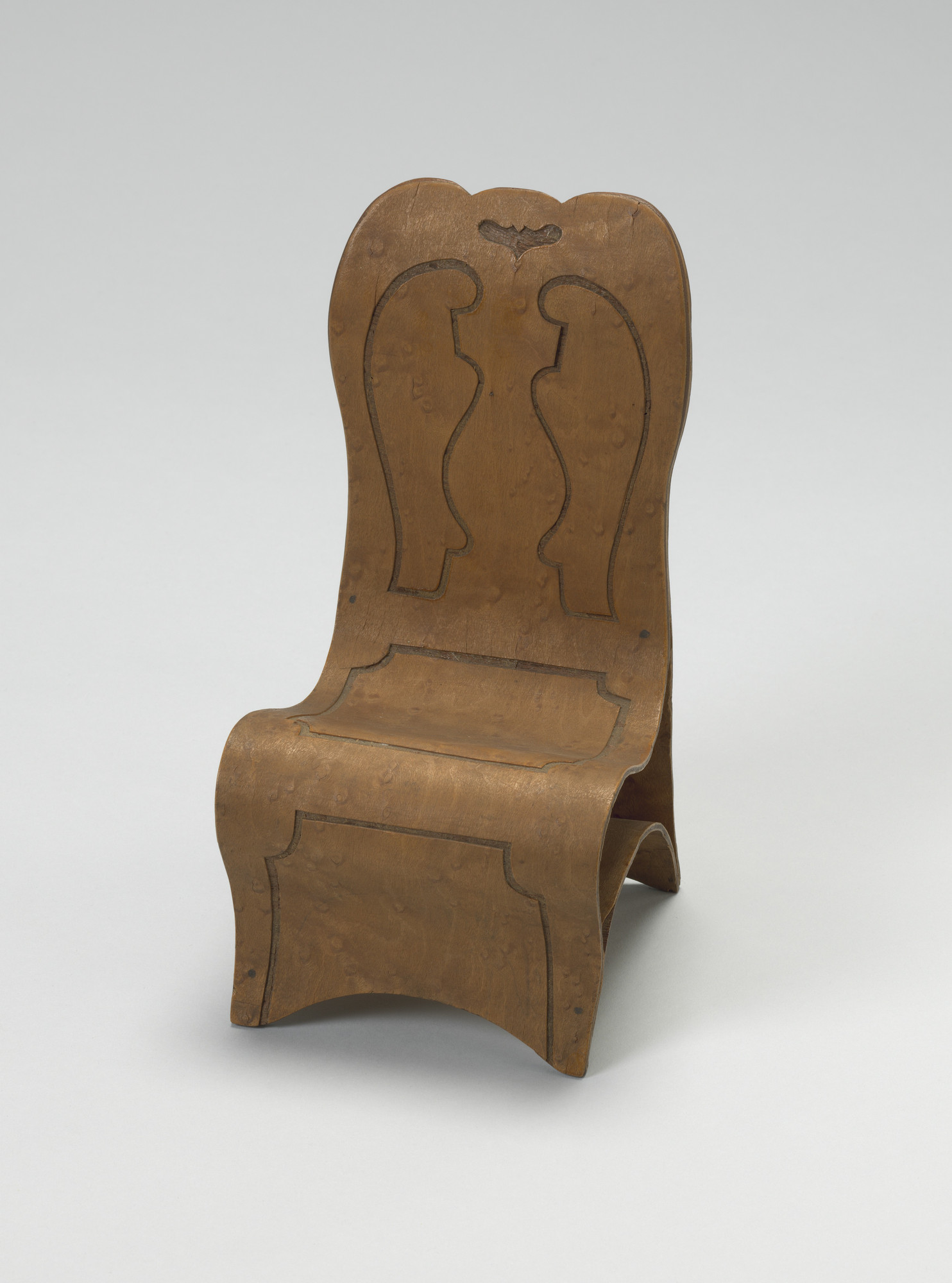 Isaac I. Cole. Patent Model for One-piece Plywood Chair. 1873