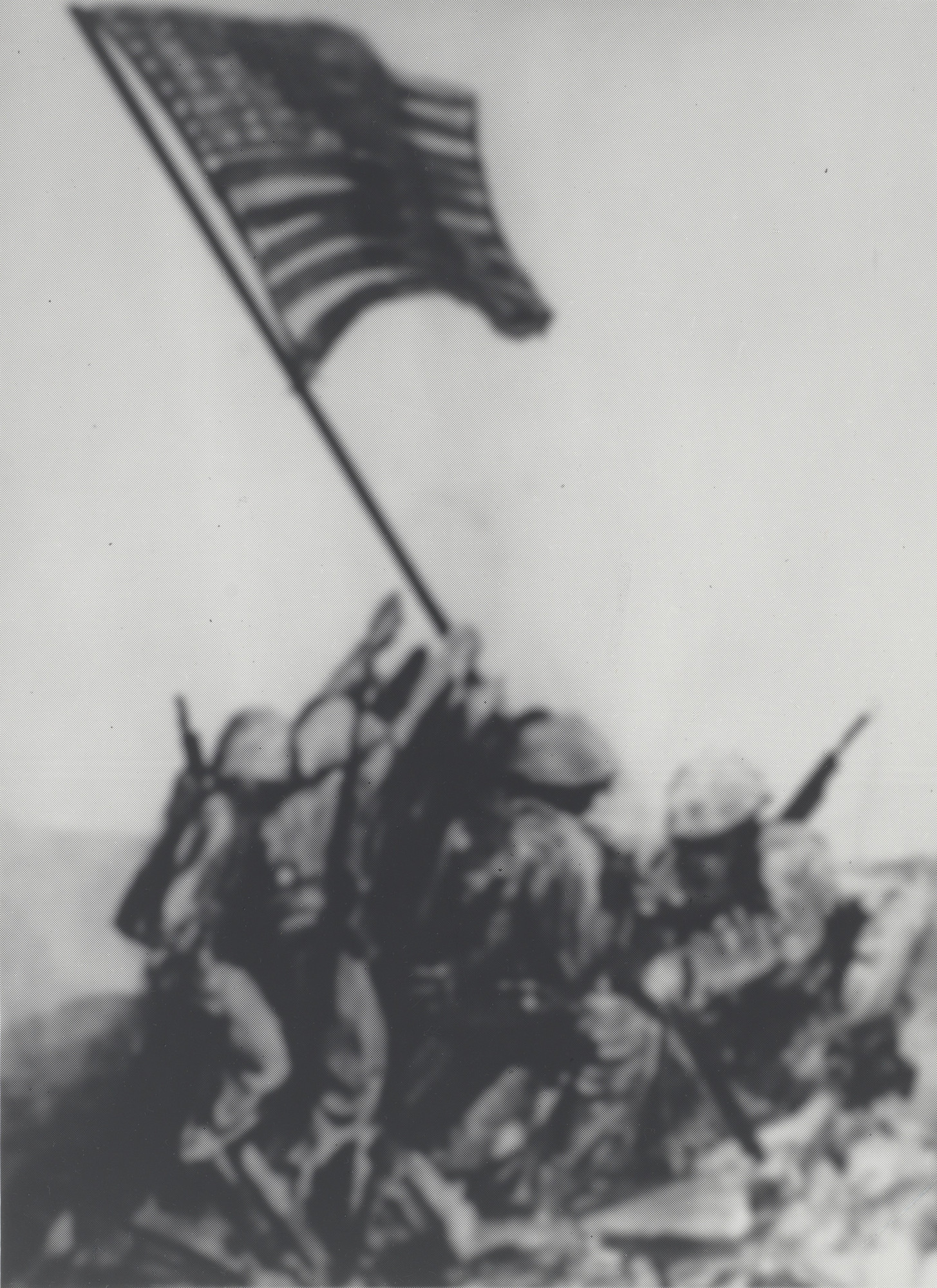 Vik Muniz. Memory Rendering of Raising the Flag on Iwo Jima. 1985-90