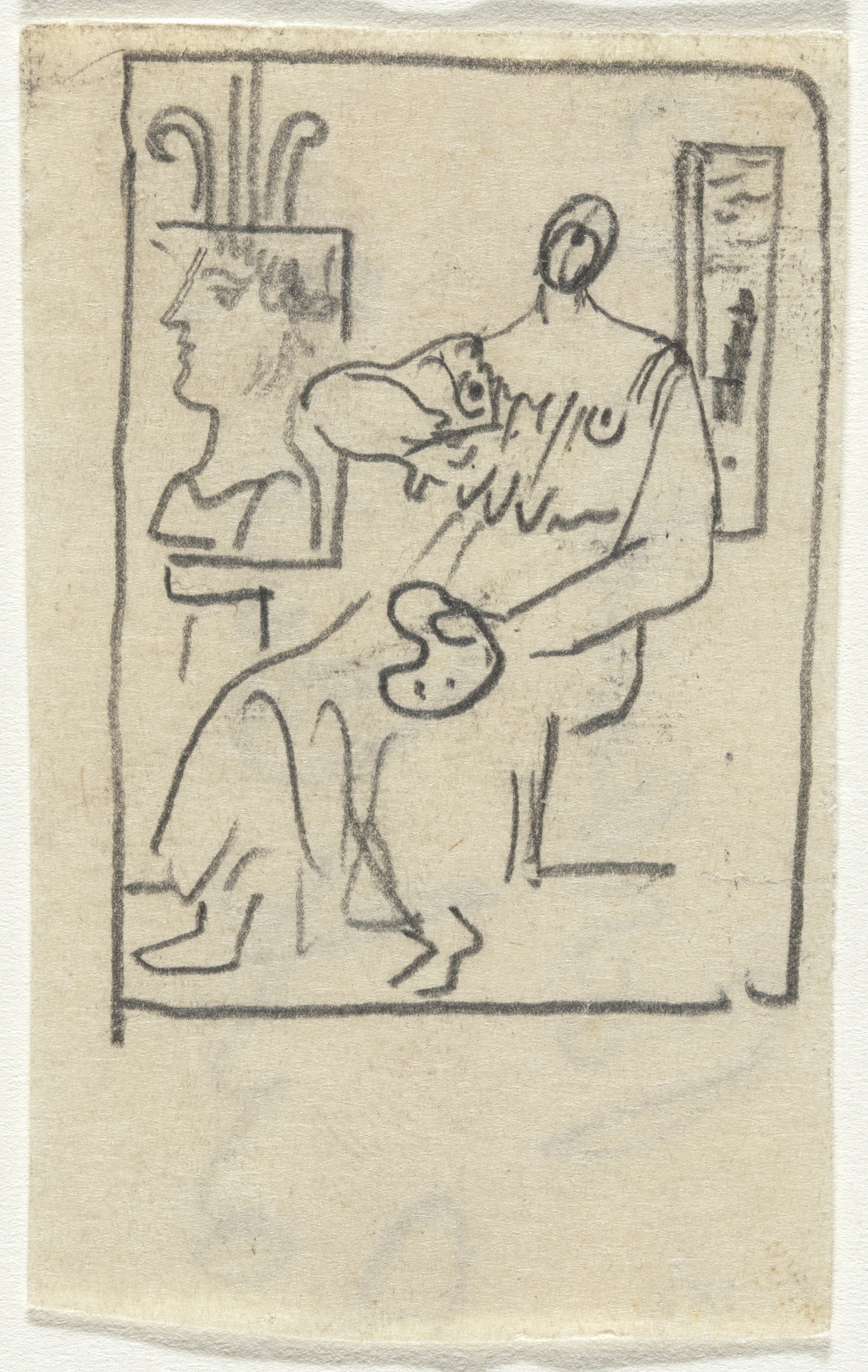 Arshile Gorky. Untitled (Study for Woman with Palette). (c. 1930-35)