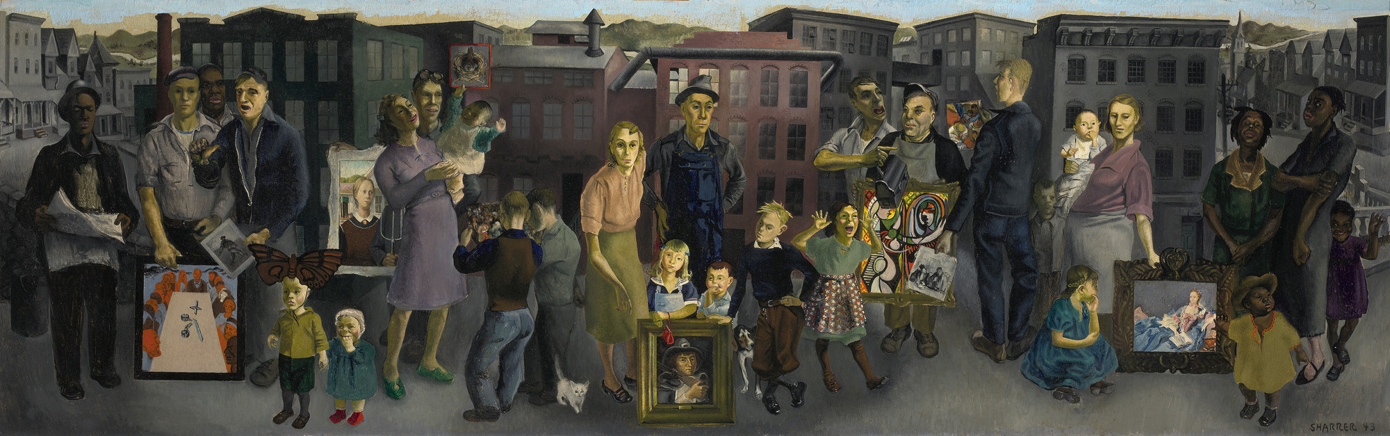 Honoré Sharrer. Workers and Paintings. 1943