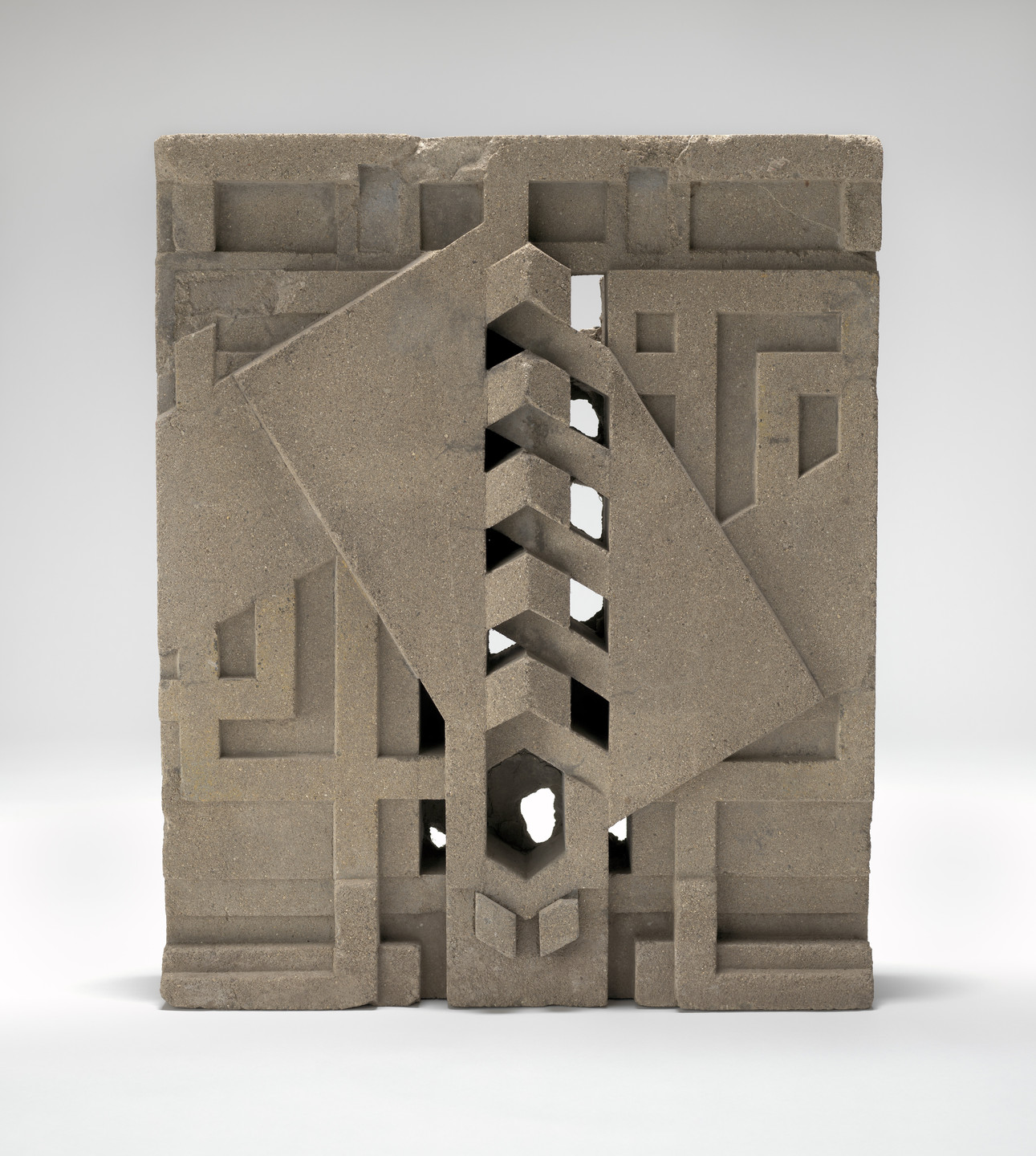 Frank Lloyd Wright. Sculpted block from Midway Gardens, Chicago, IL. 1913–1914