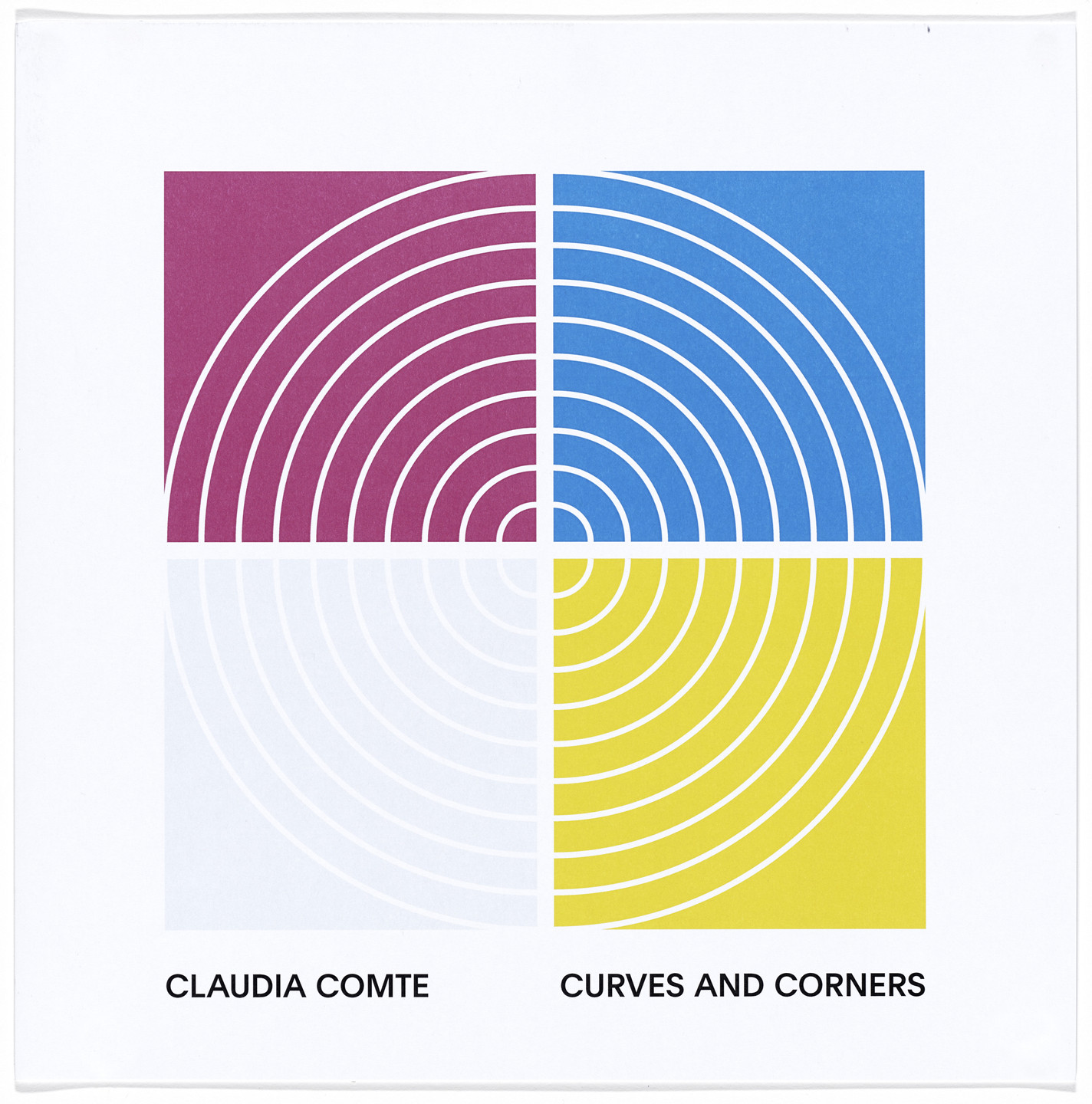 Claudia Comte. Curves and Corners. 2015