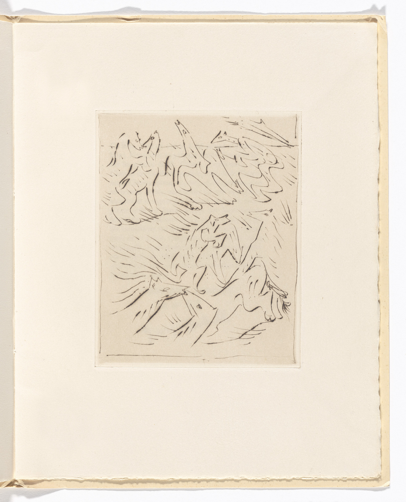 André Masson. Plate (folio 10) from L'Anus solaire. 1931