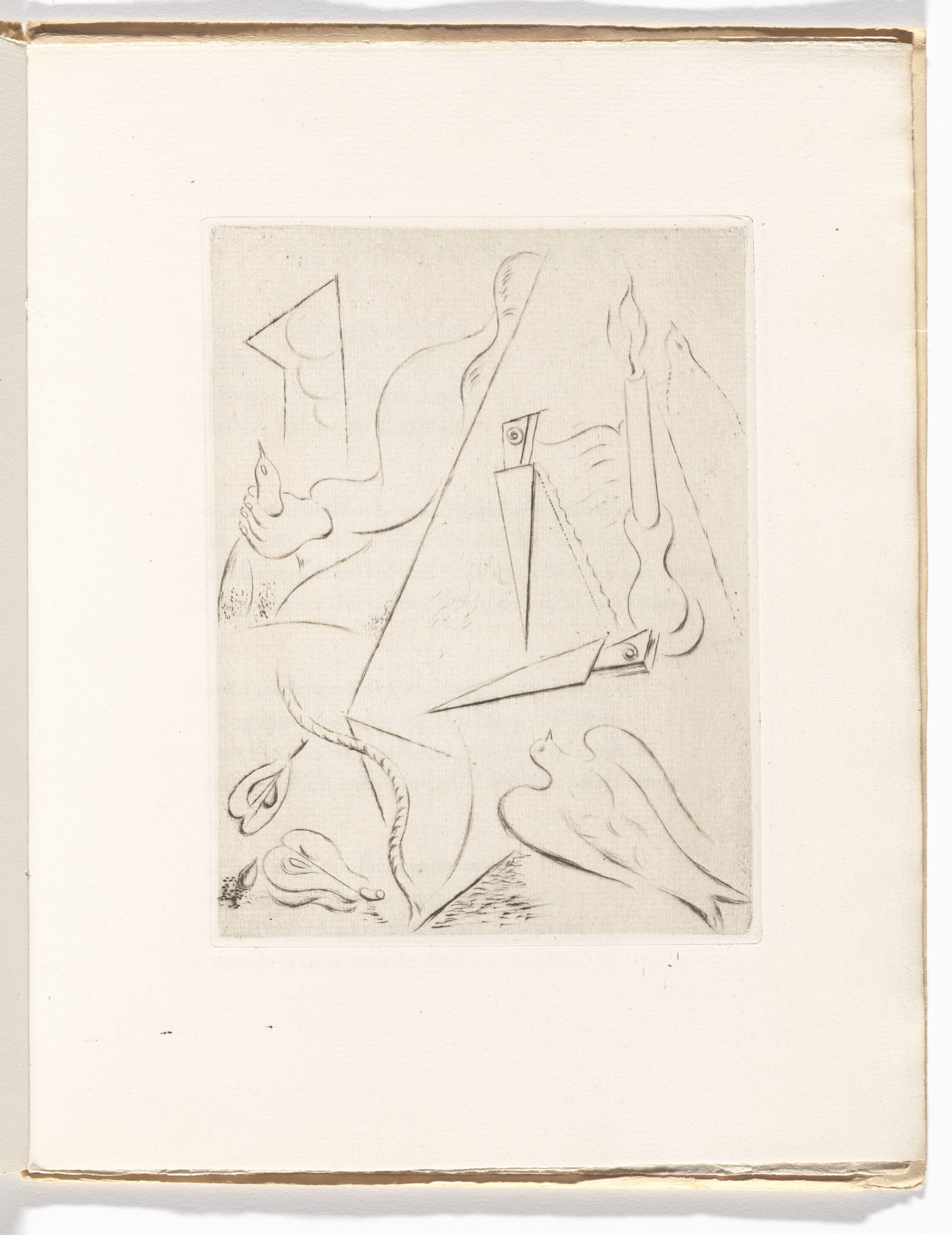 André Masson. Plate (folio 8) from Soleils bas. 1924