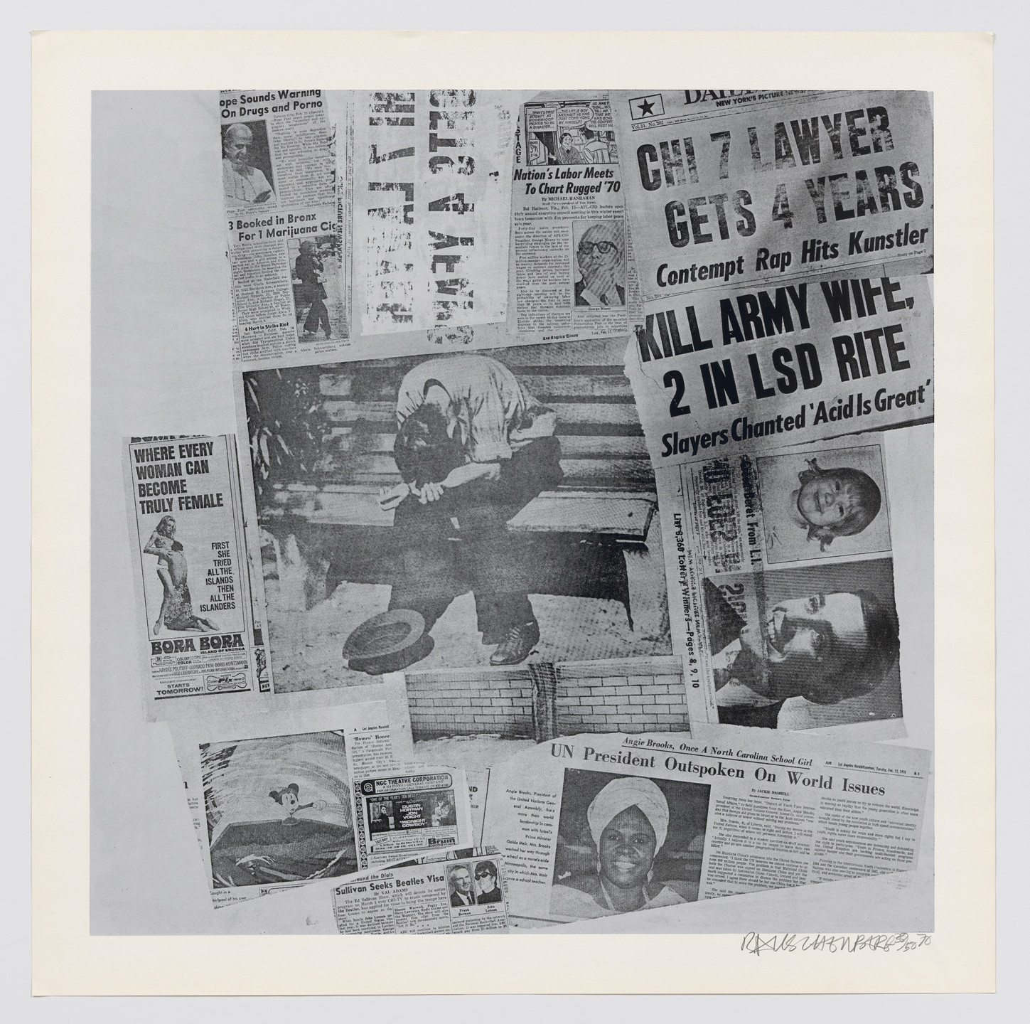 Robert Rauschenberg. Features from Currents. 1970