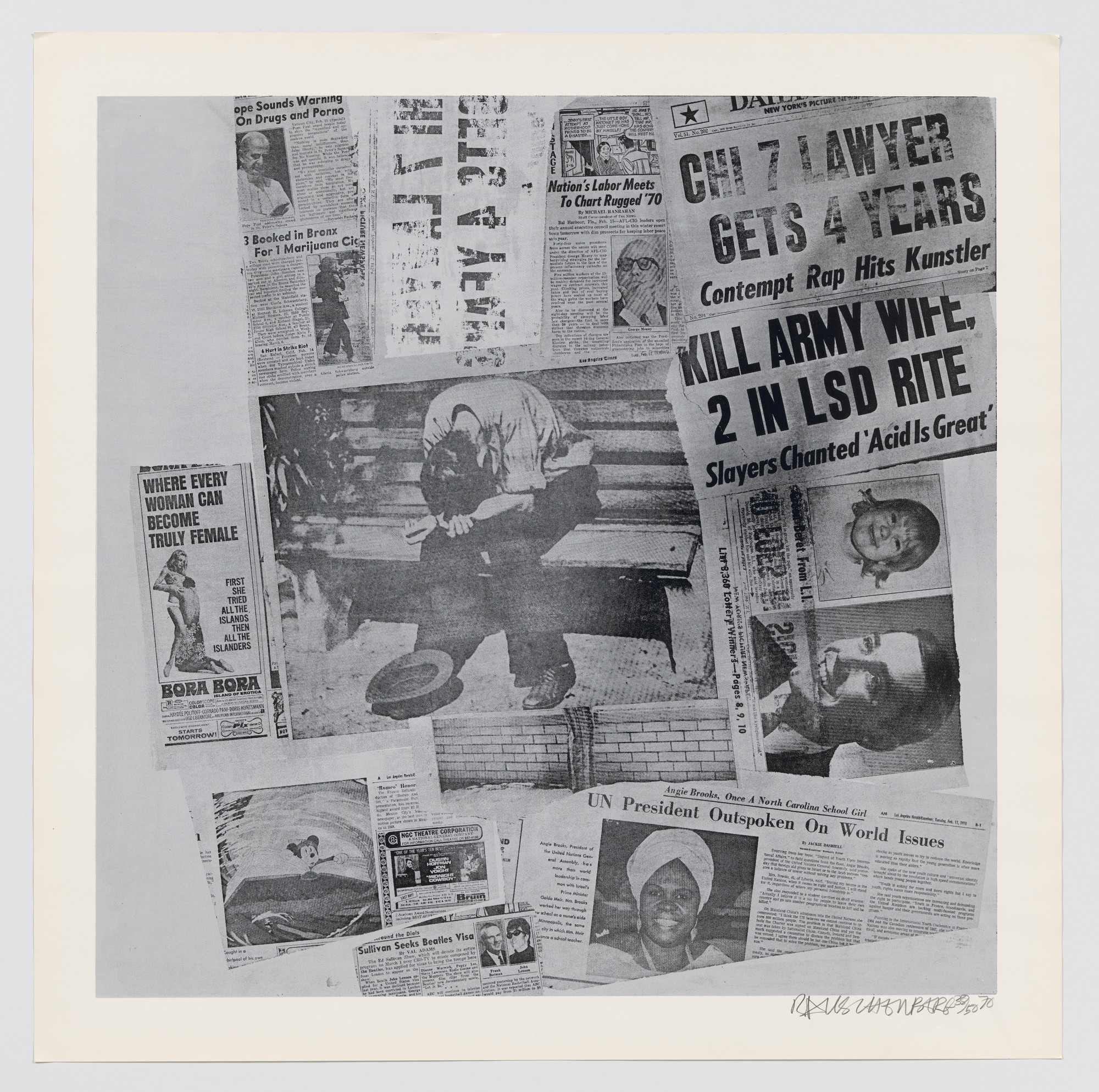 Robert Rauschenberg  Features from Currents  1970 | MoMA