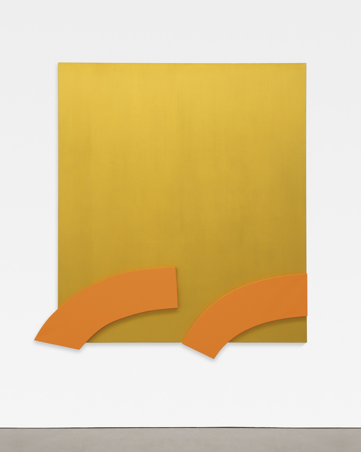 Ellsworth Kelly. Gold with Orange Reliefs. 2013