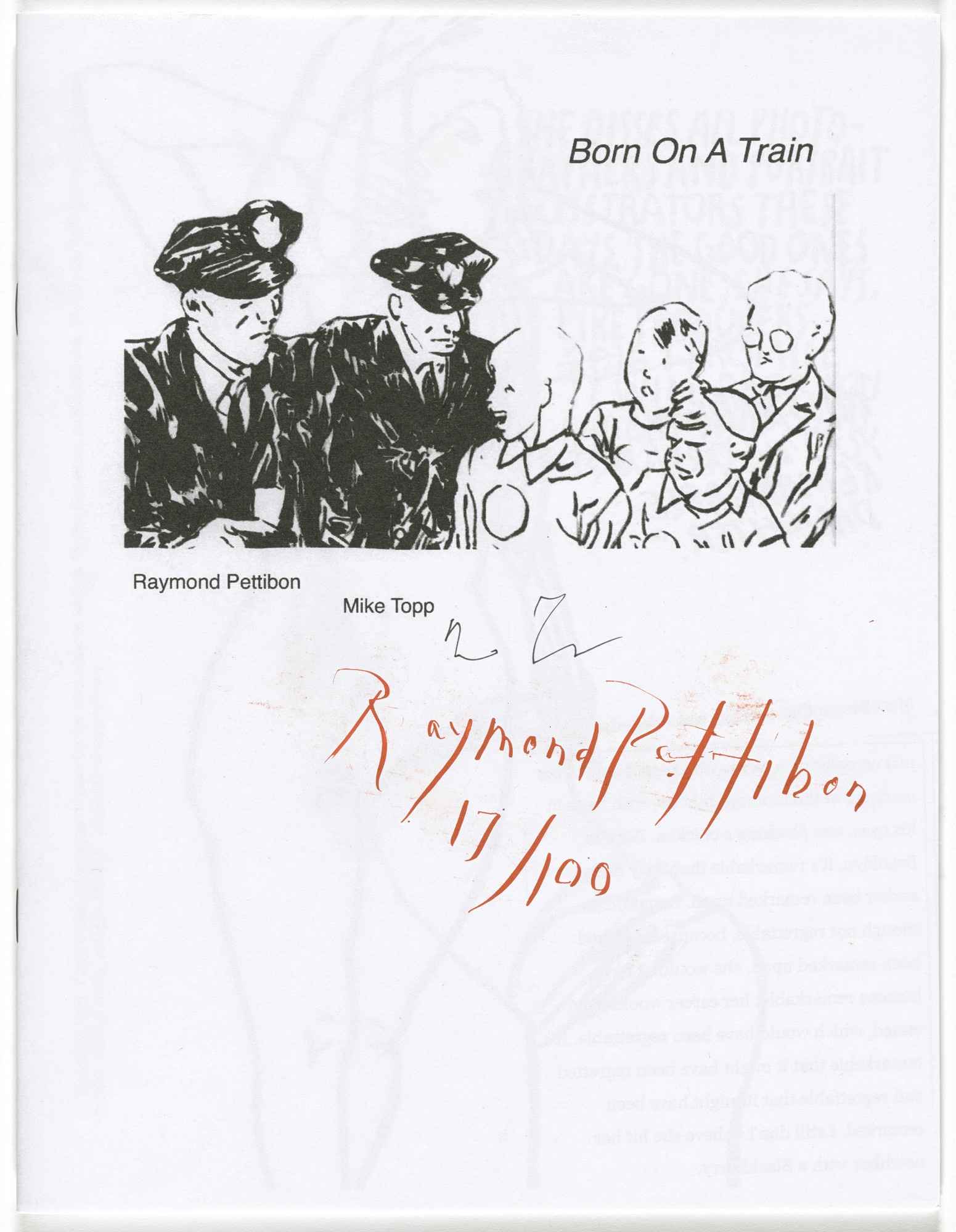 Raymond Pettibon, Mike Topp. Born on a Train. 2015
