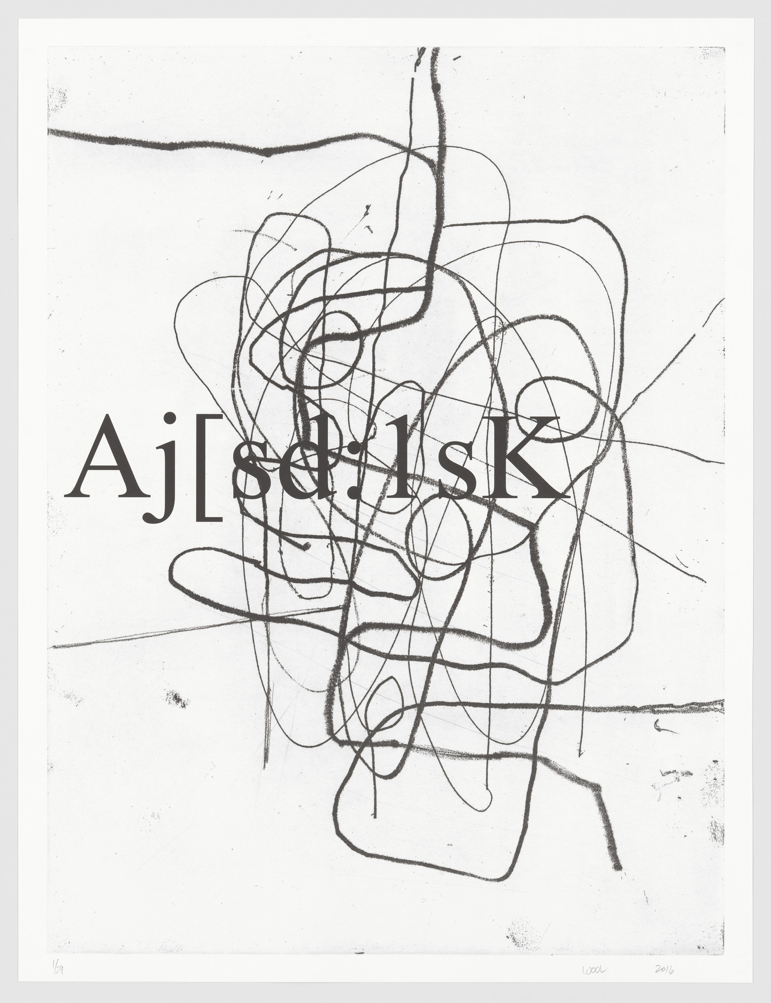 Christopher Wool. Untitled from a.k.a.. 2016