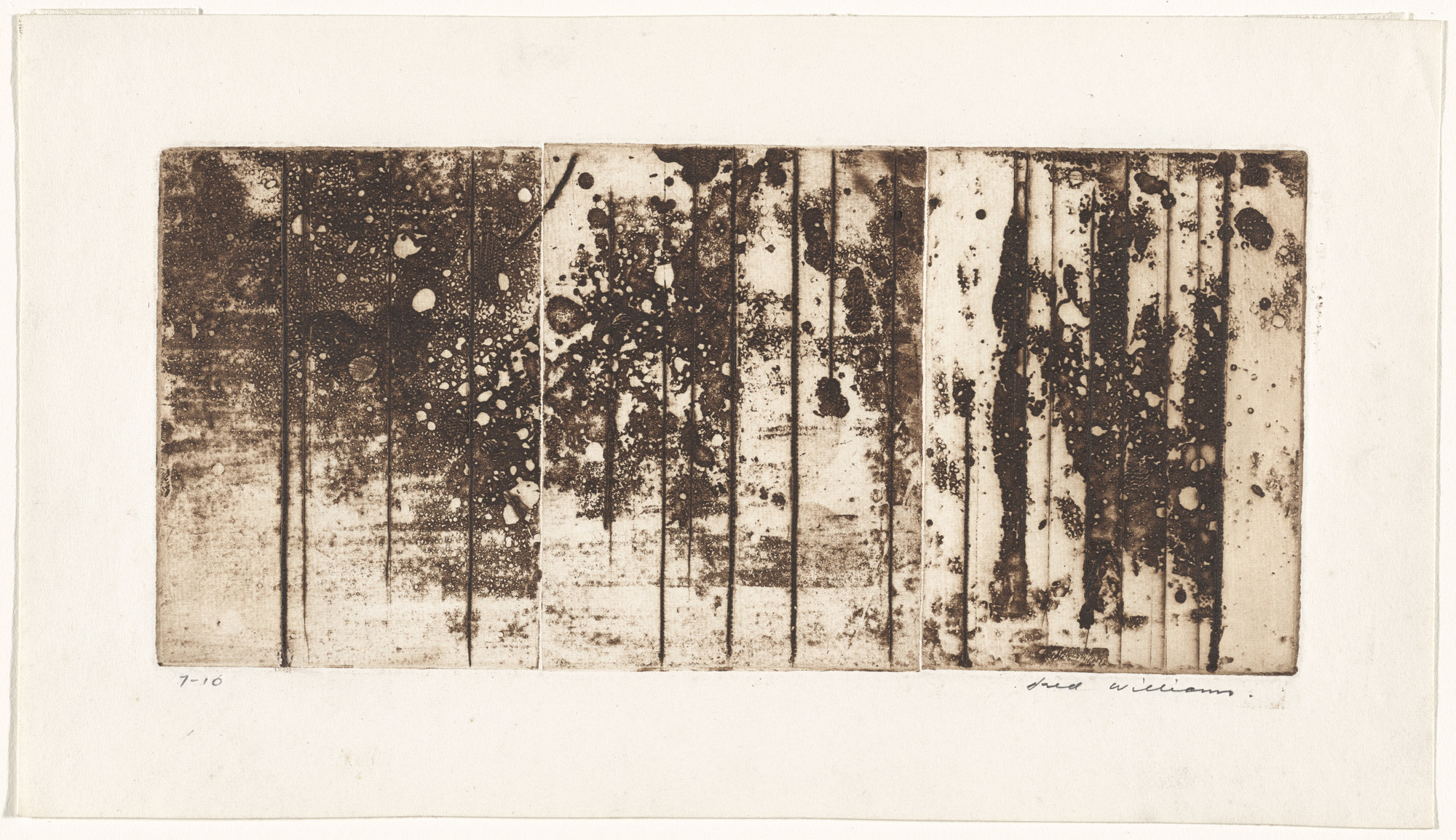 Fred Williams. Landscape Triptych No. 2, State II/IV. 1962