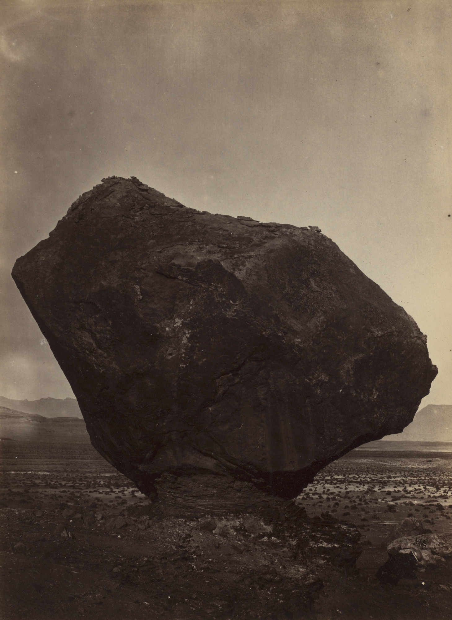 William H. Bell. Perched Rock, Rocker Creek, Arizona. 1872