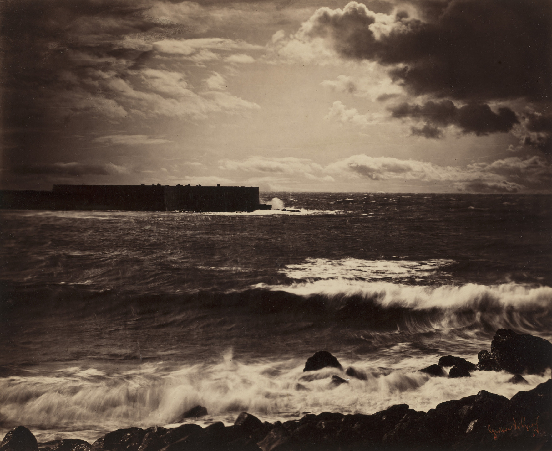 Gustave Le Gray. The Great Wave, Sète. 1856