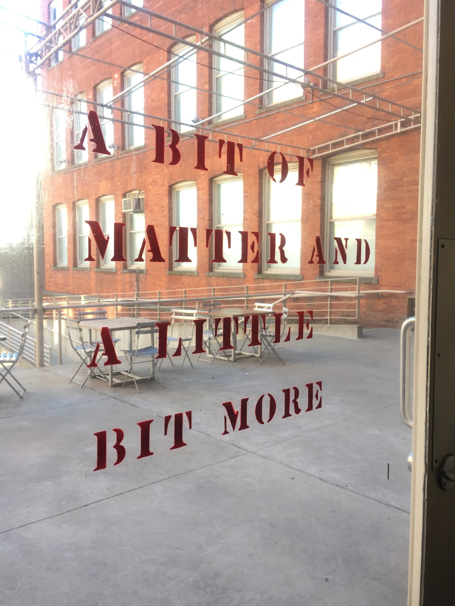 Lawrence Weiner. A BIT OF MATTER AND A LITTLE BIT MORE. 1976