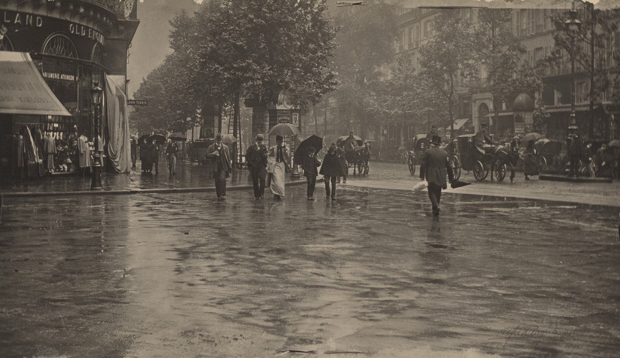 Alfred Stieglitz. A Wet Day on the Boulevard, Paris. 1894