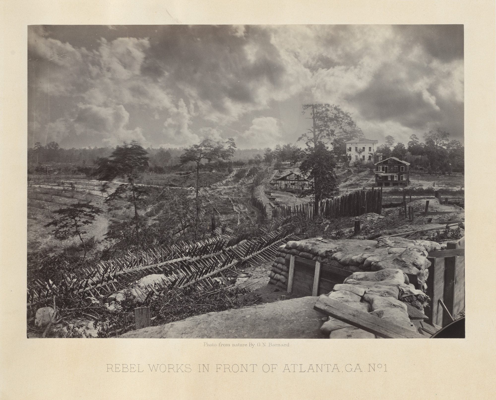 George Barnard. Rebel Works in front of Atlanta, Georgia, No. 1 from the album Photographic Views of Sherman's Campaign. 1864-65