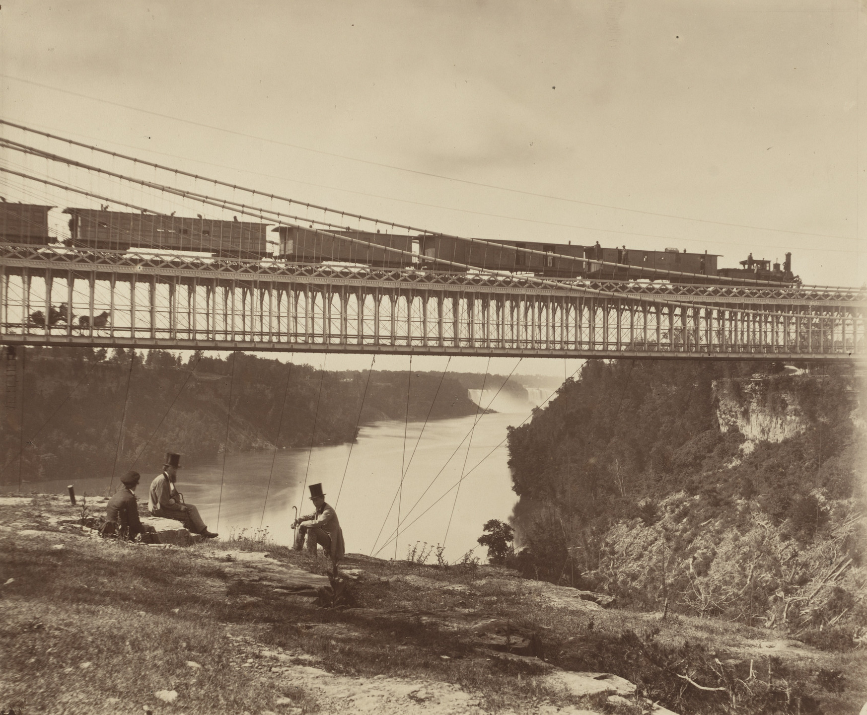 William England. Niagara Suspension Bridge. 1859