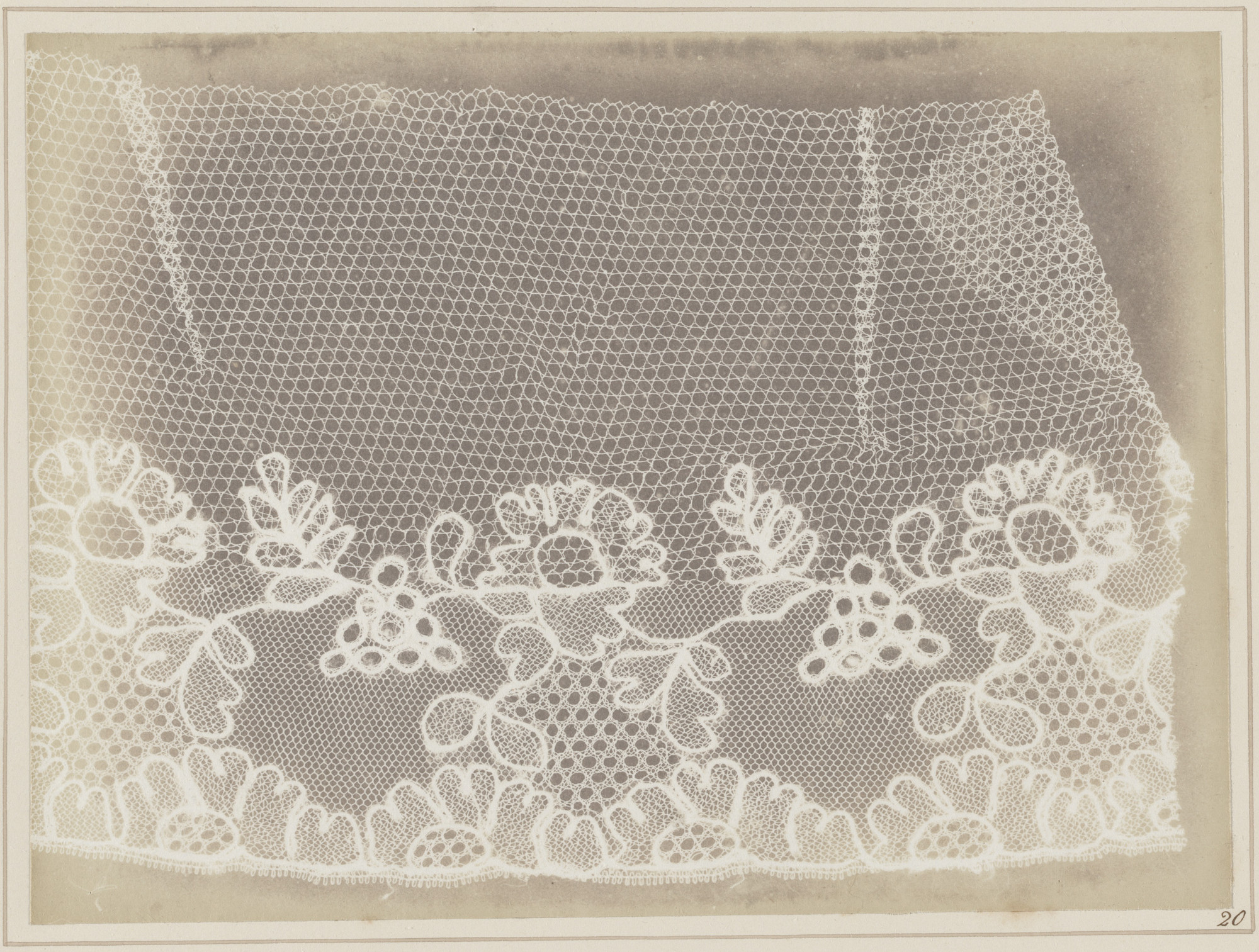 William Henry Fox Talbot. Lace. 1845