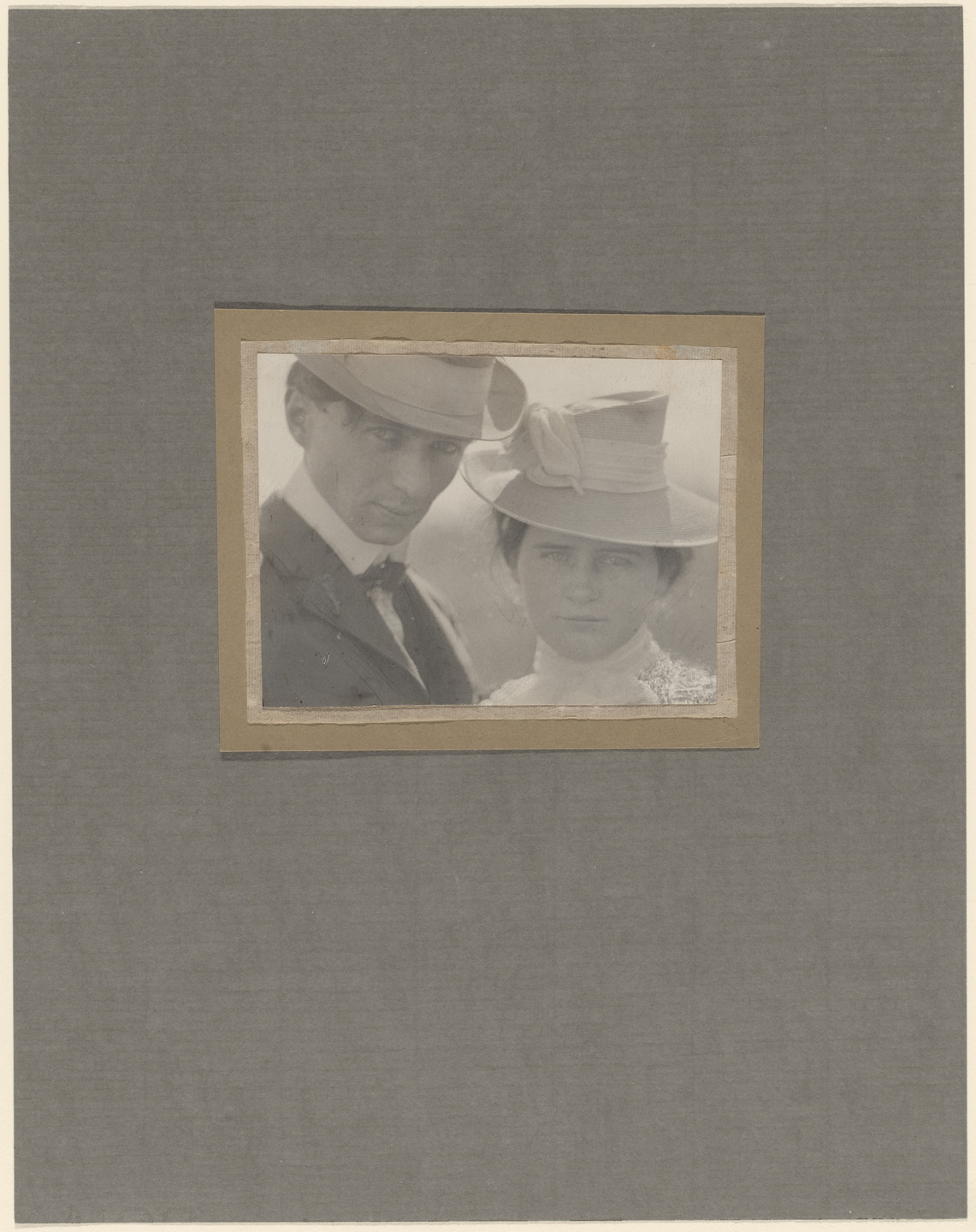 Edward Steichen. Self-Portrait with Sister. 1900