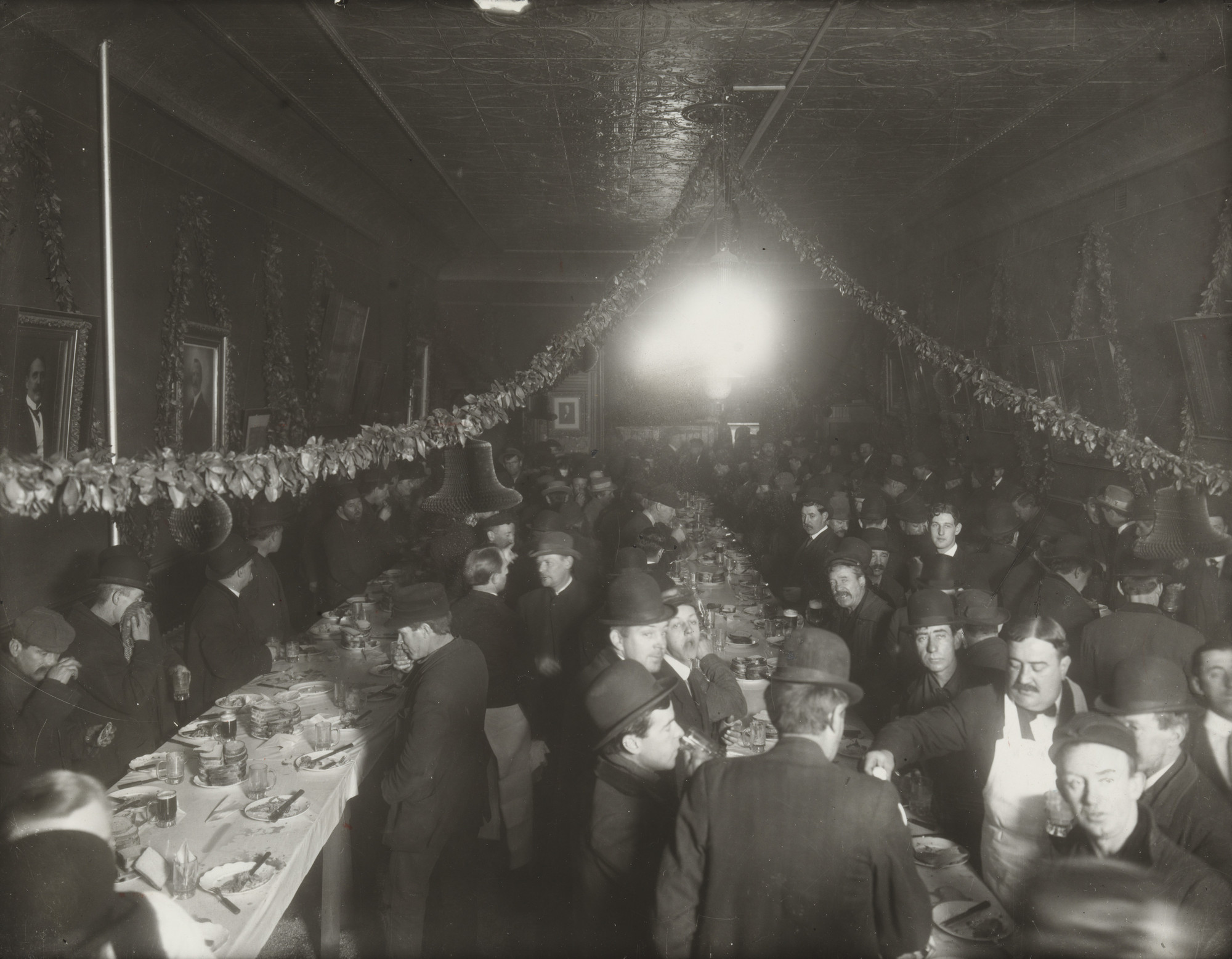 Brown Brothers. Christmas Party Given by Jim Sullivan's Political Club, New York. c. 1905