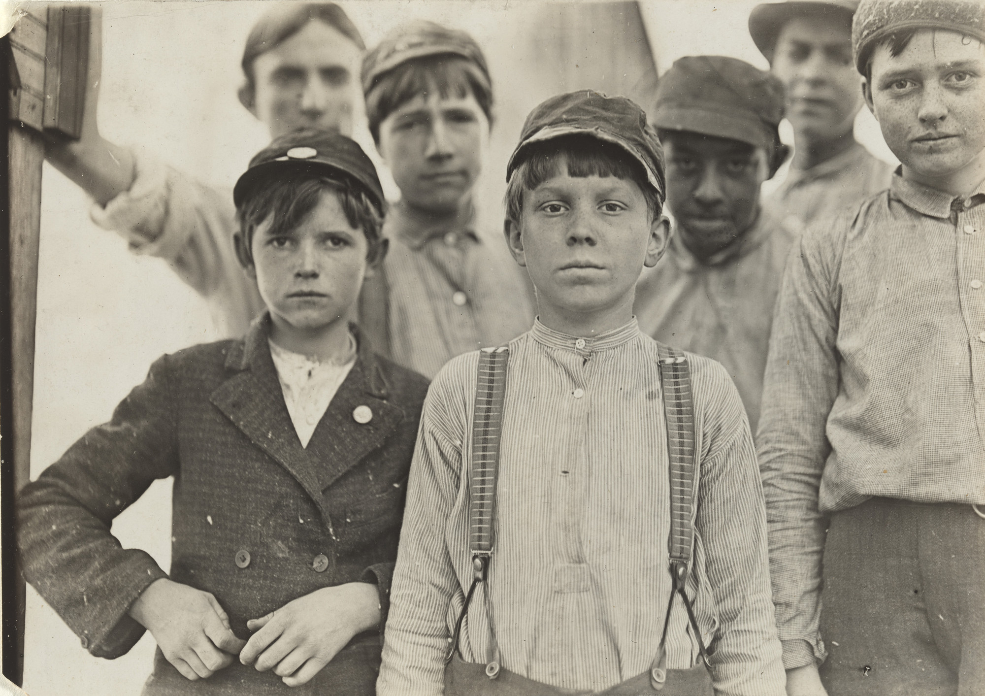 Lewis W. Hine. Doffers, Willingham Cotton Mill, Macon, Georgia. January 1909