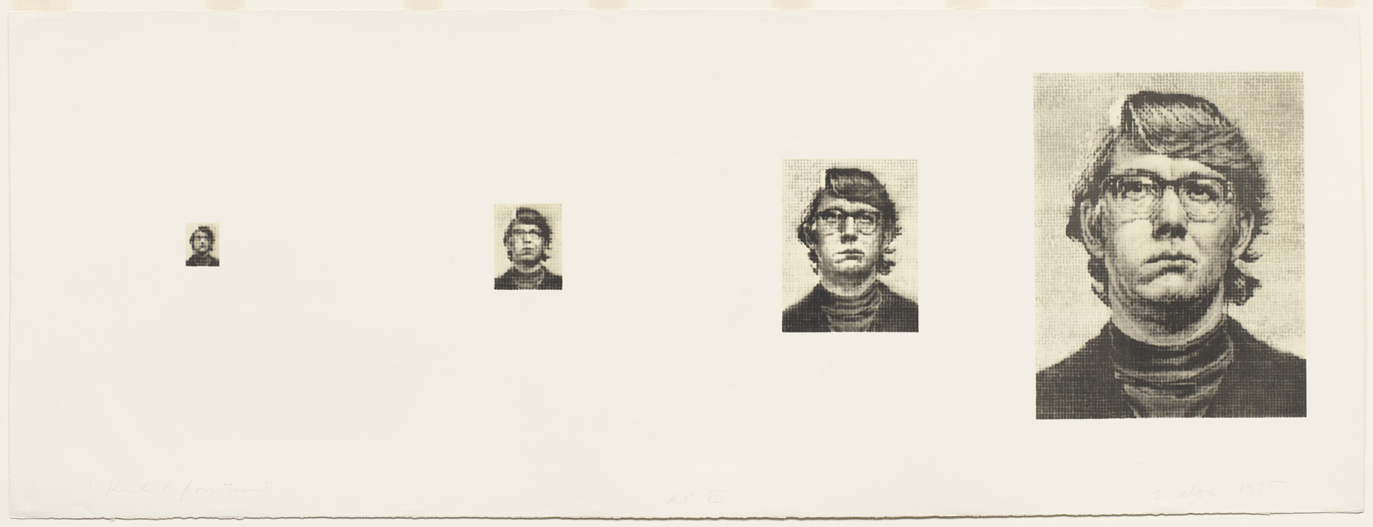 Chuck Close. Keith/Four Times. 1975