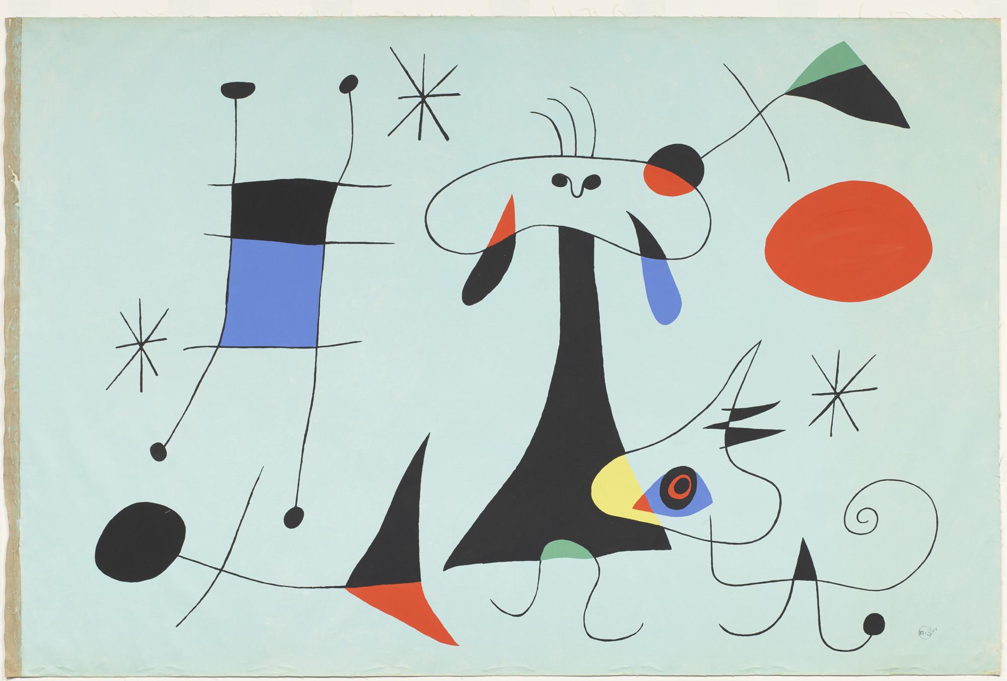 Joan Miró. The Sun (El Sol). 1949 | MoMA