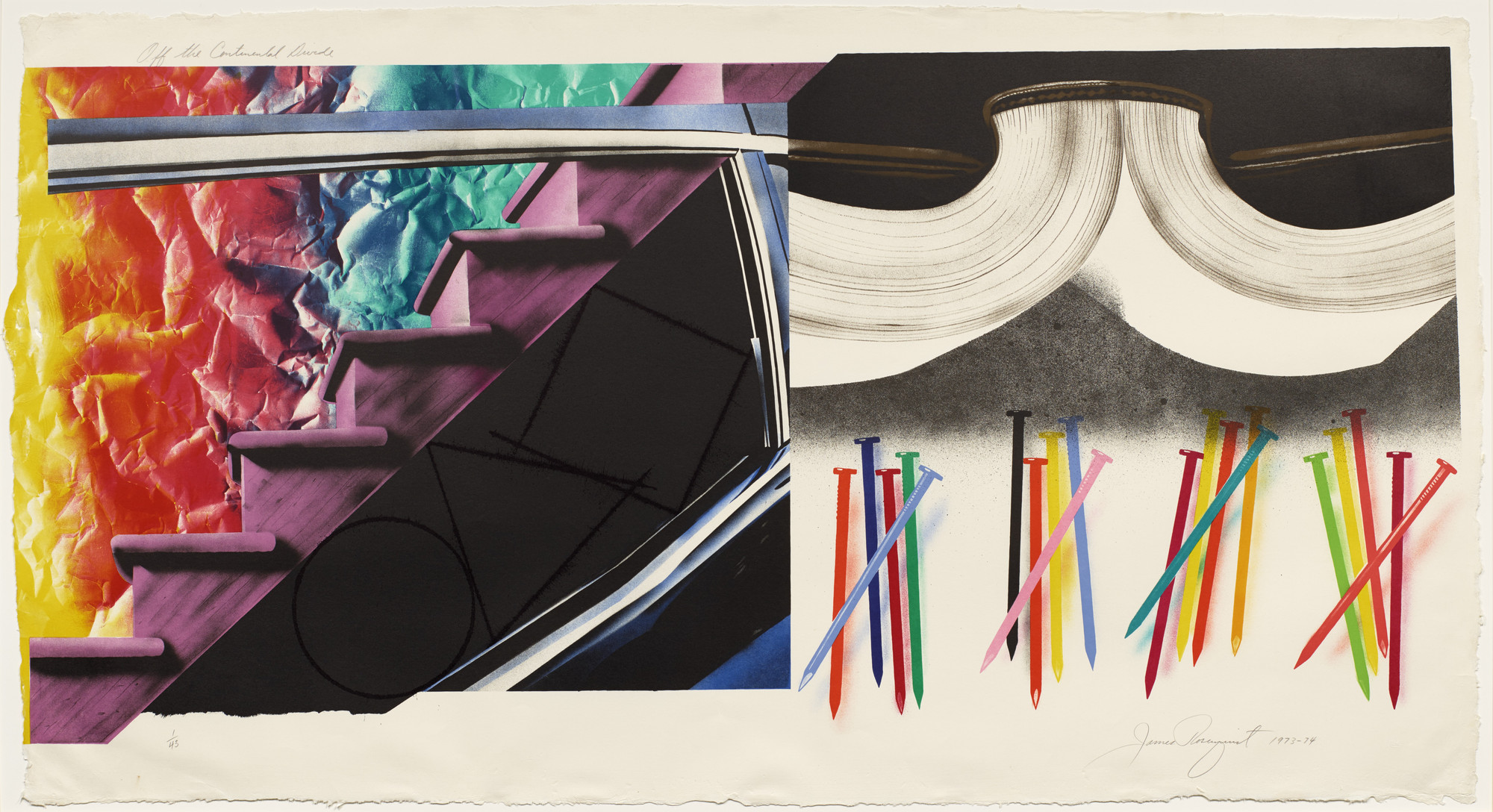 James Rosenquist. Off the Continental Divide. 1973-74