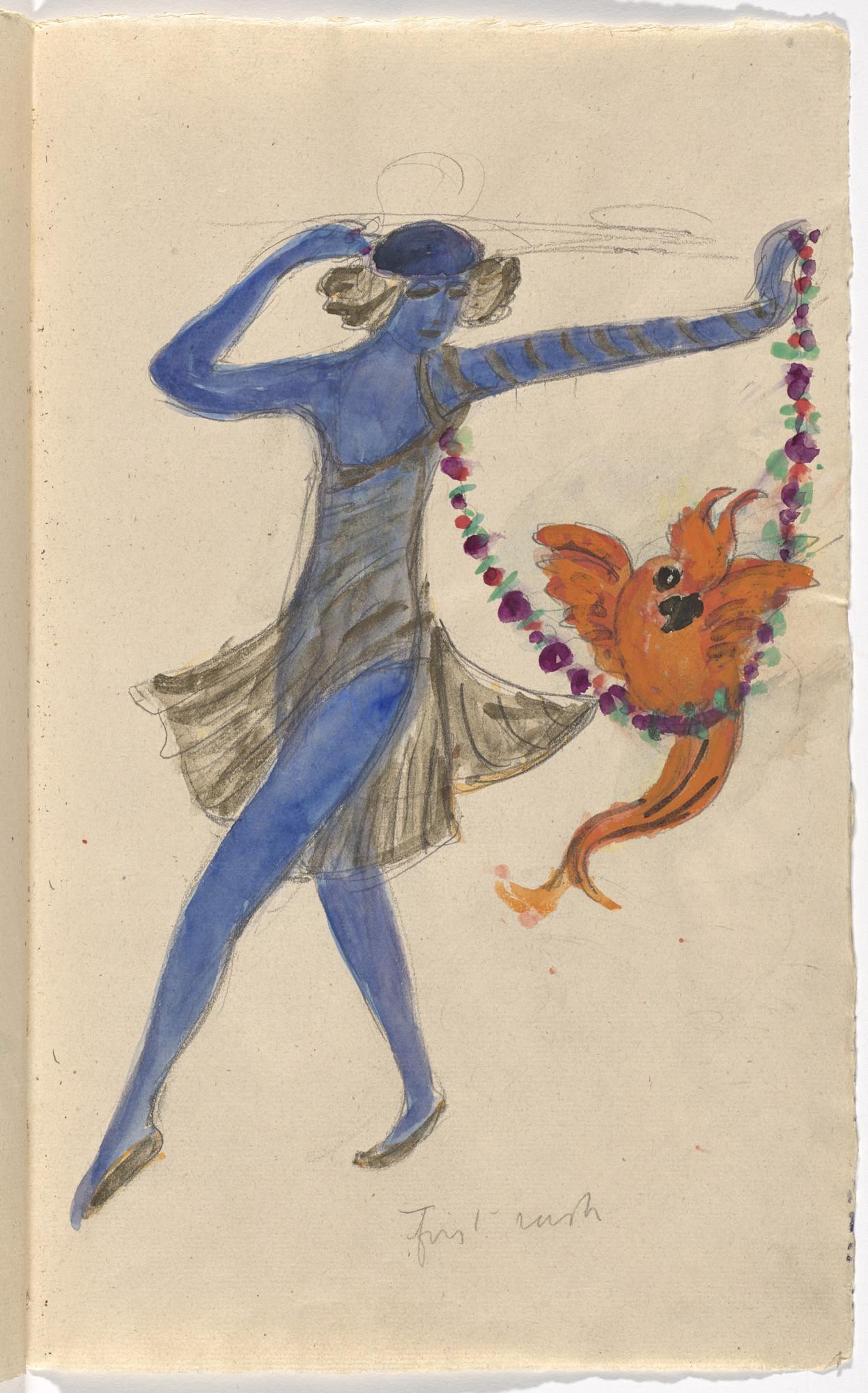 Florine Stettheimer  Costume design (First Rush) for