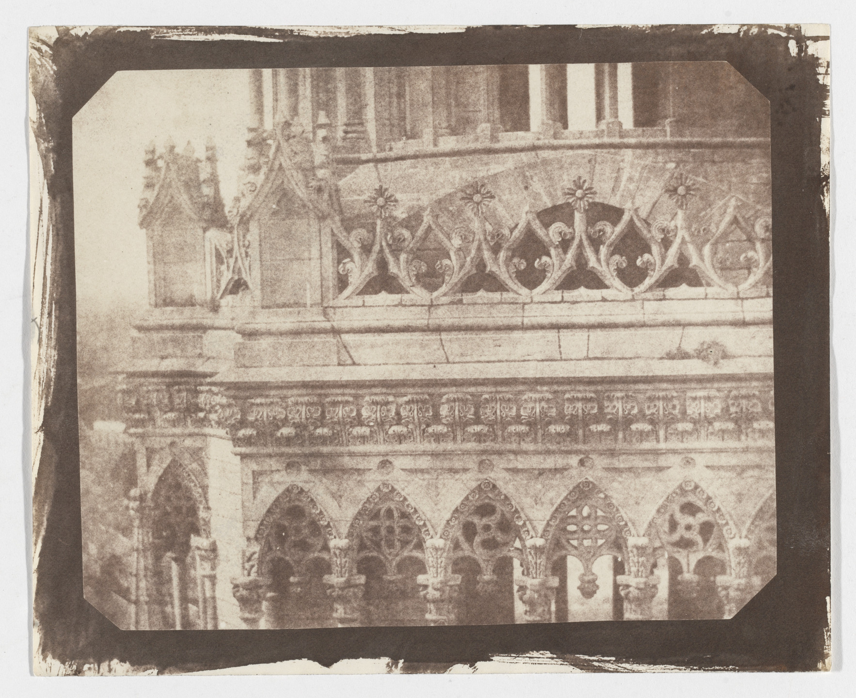 William Henry Fox Talbot. One of the Towers of Orleans Cathedral, as Seen from the Opposite Tower. June 21, 1843