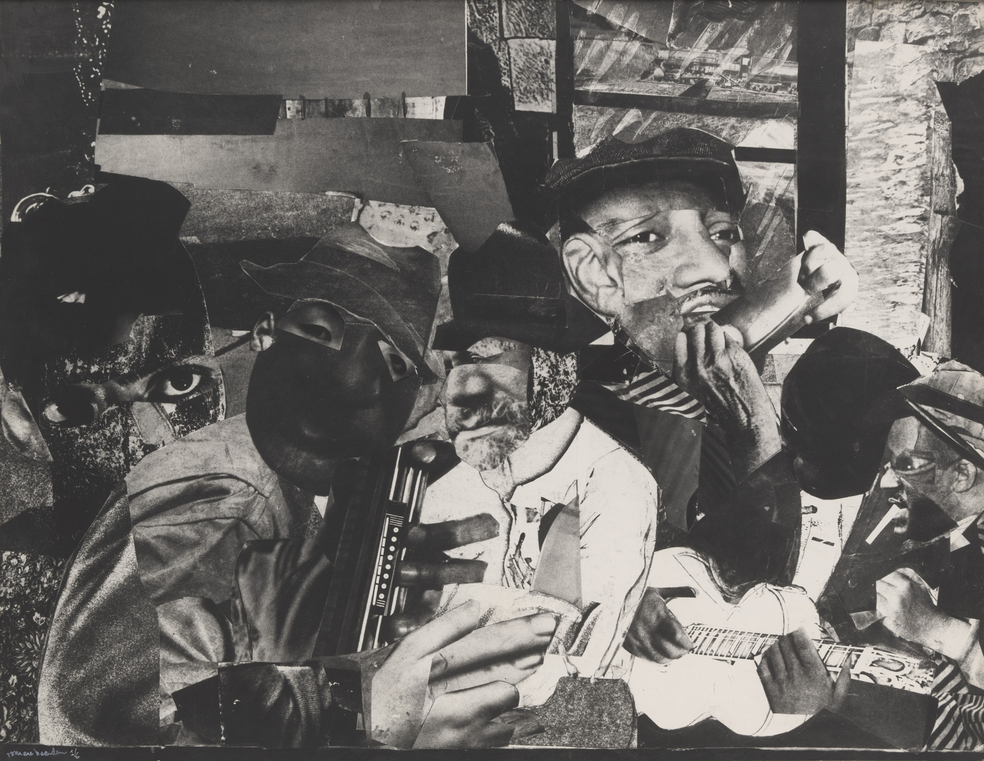 Romare Bearden. Train Whistle Blues No. 1. 1964