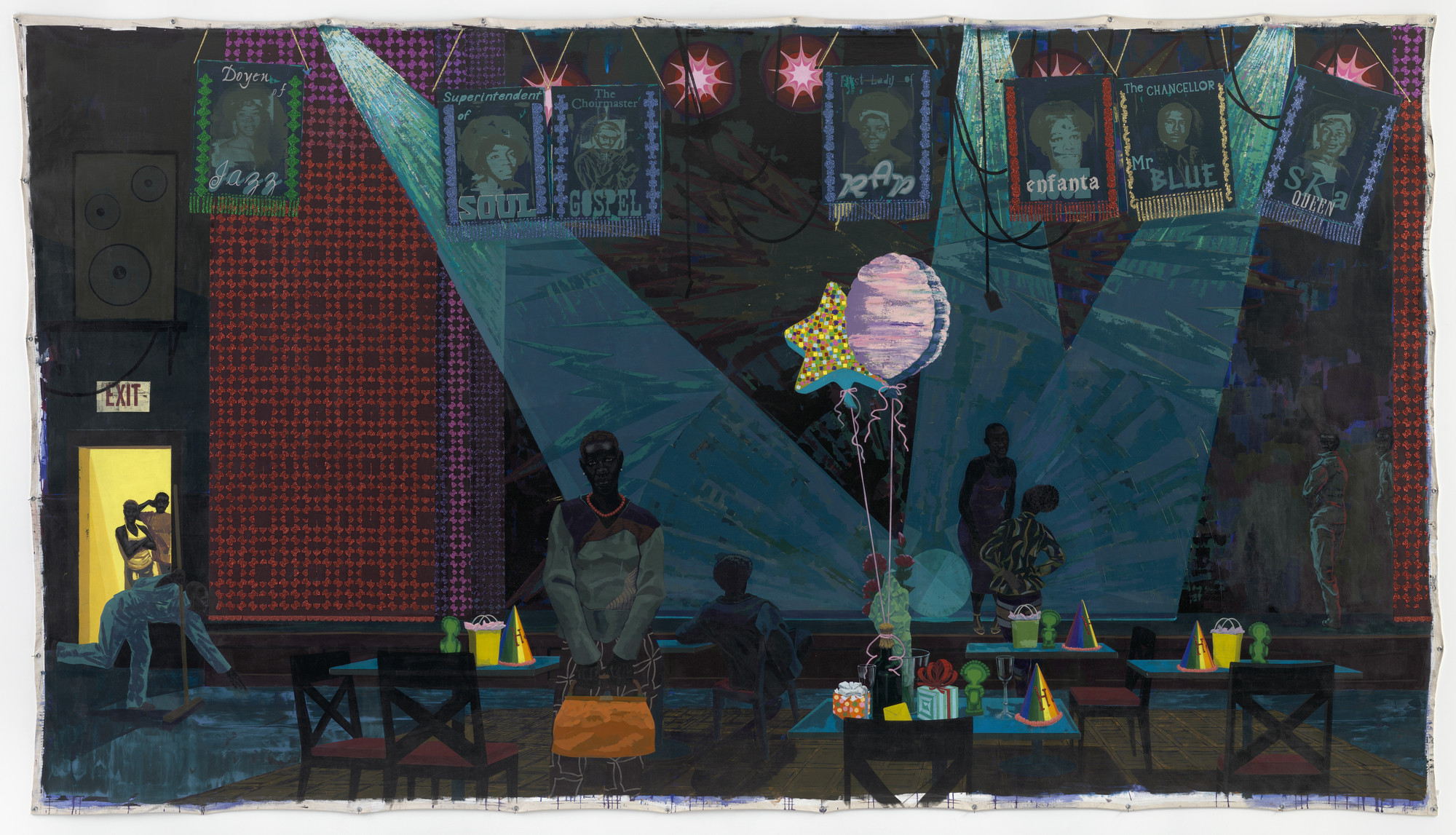 Kerry James Marshall. Untitled (Club Scene). 2013