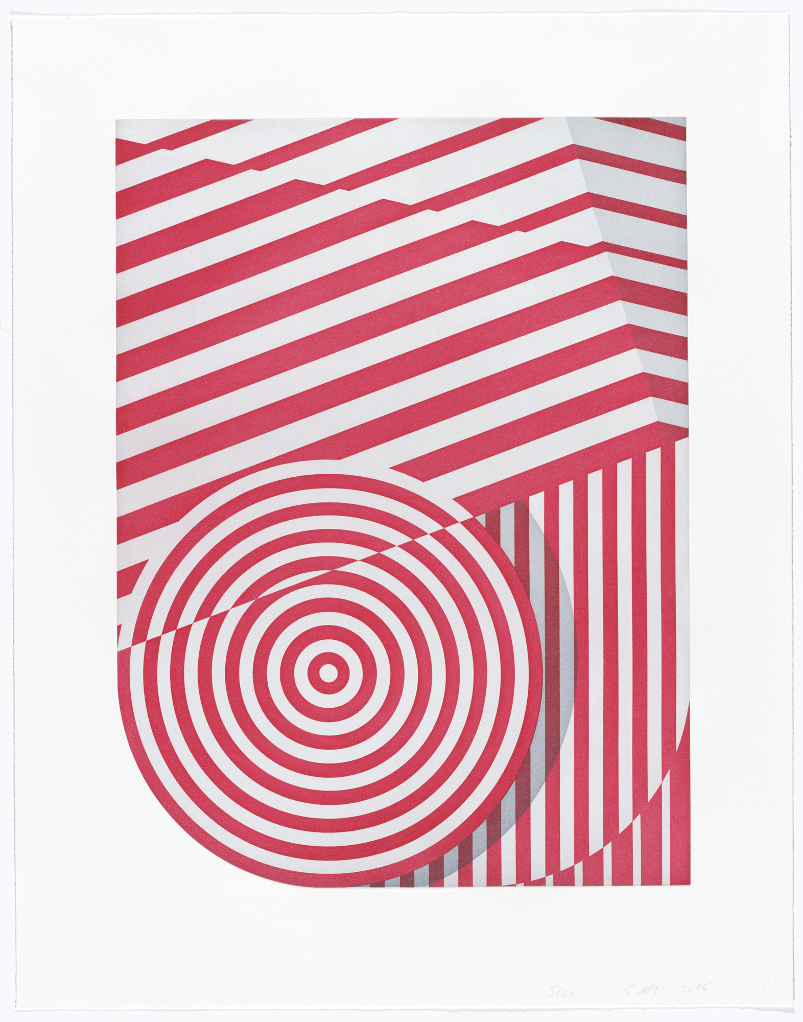 Tomma Abts. Untitled (big circle). 2015