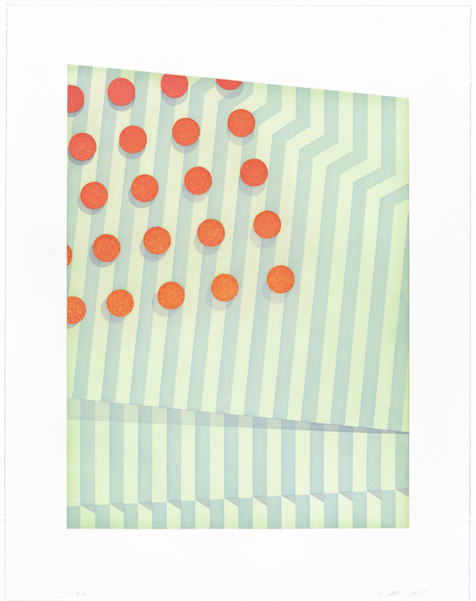 Tomma Abts. Untitled (small circles). 2015